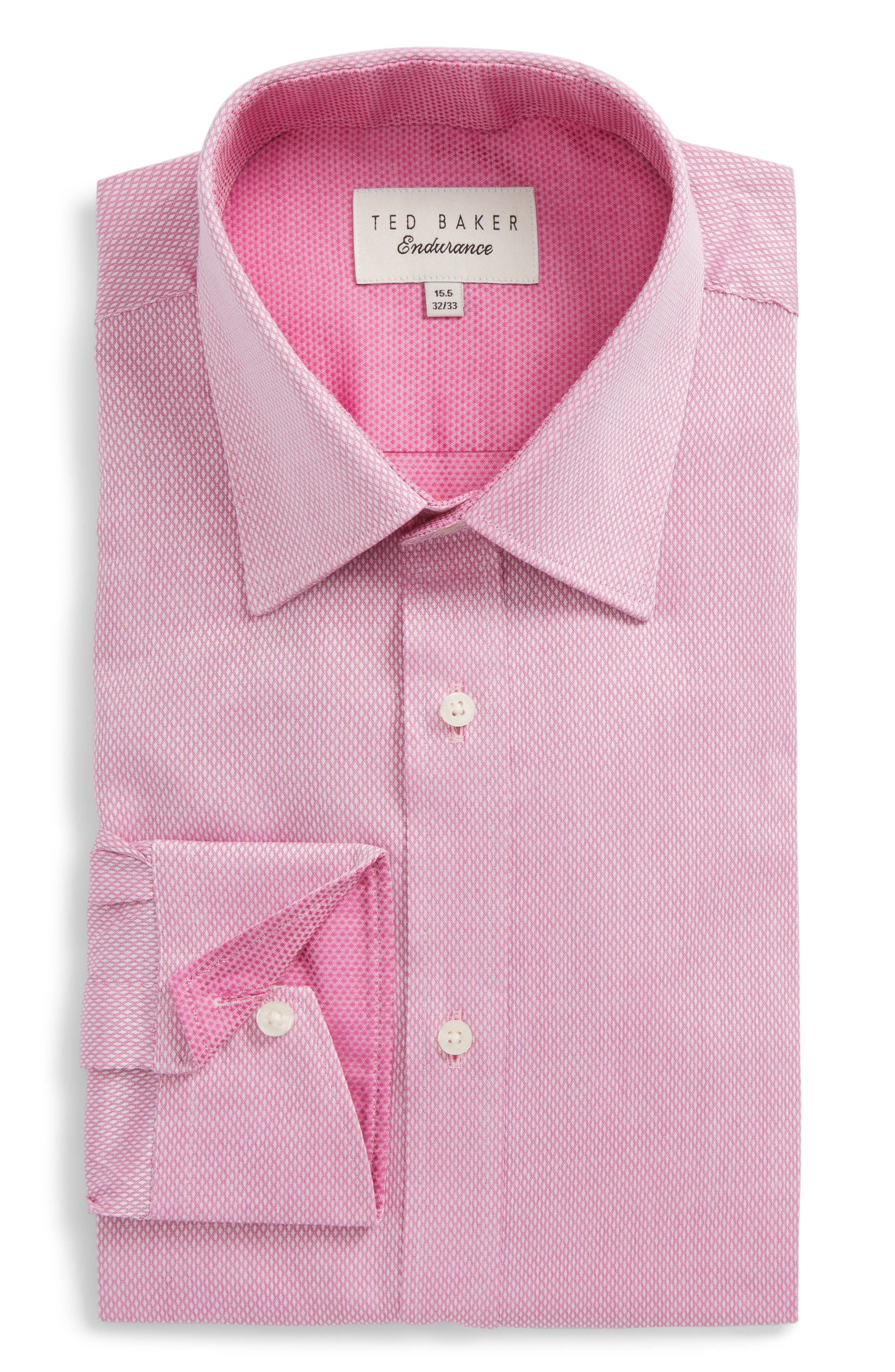 Lavindr Endurance Trim Fit Solid Dress Shirt,                         Main,                         color, Pink