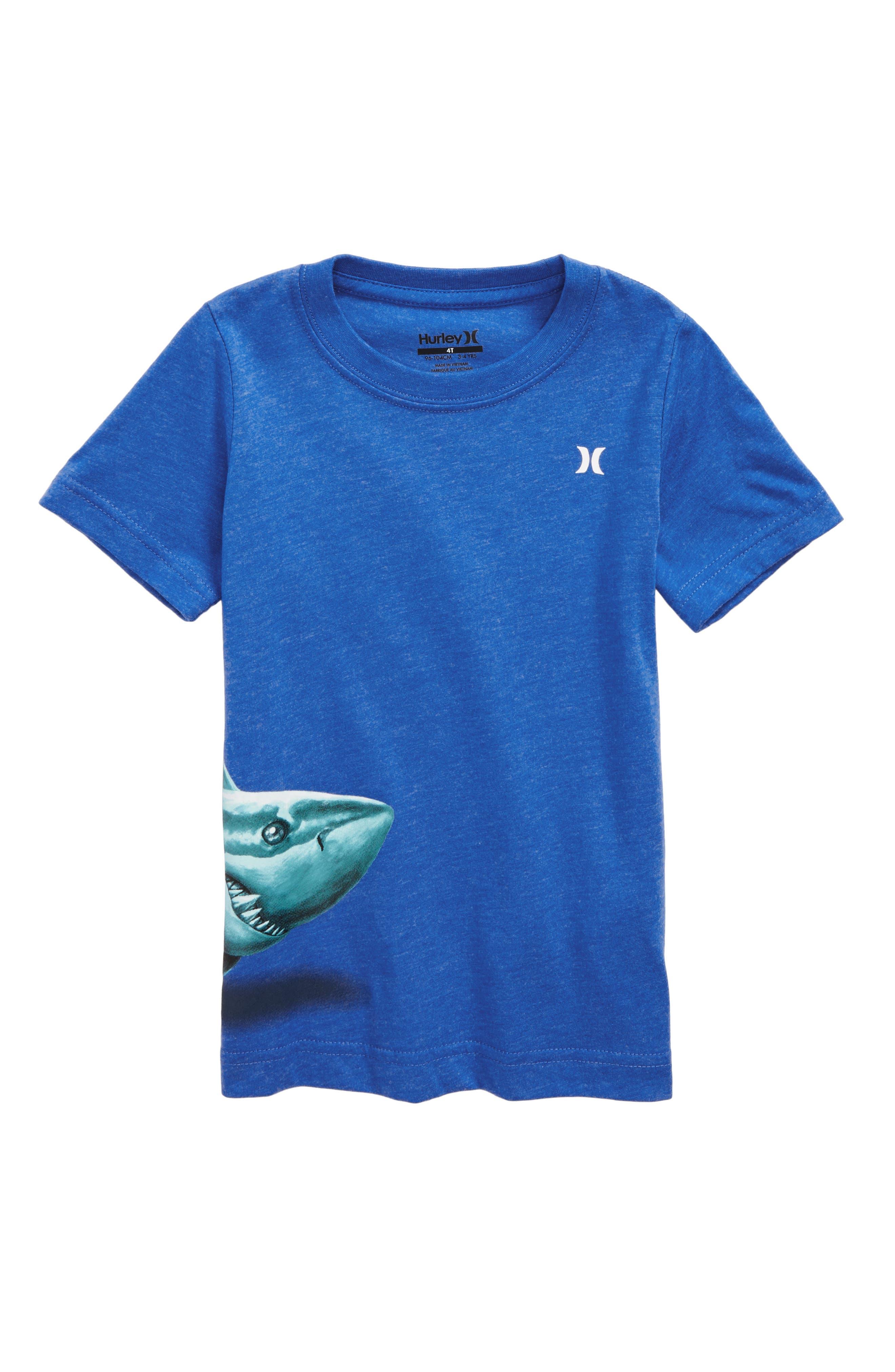 Sharky T-Shirt,                         Main,                         color, Fountain Blue Heather