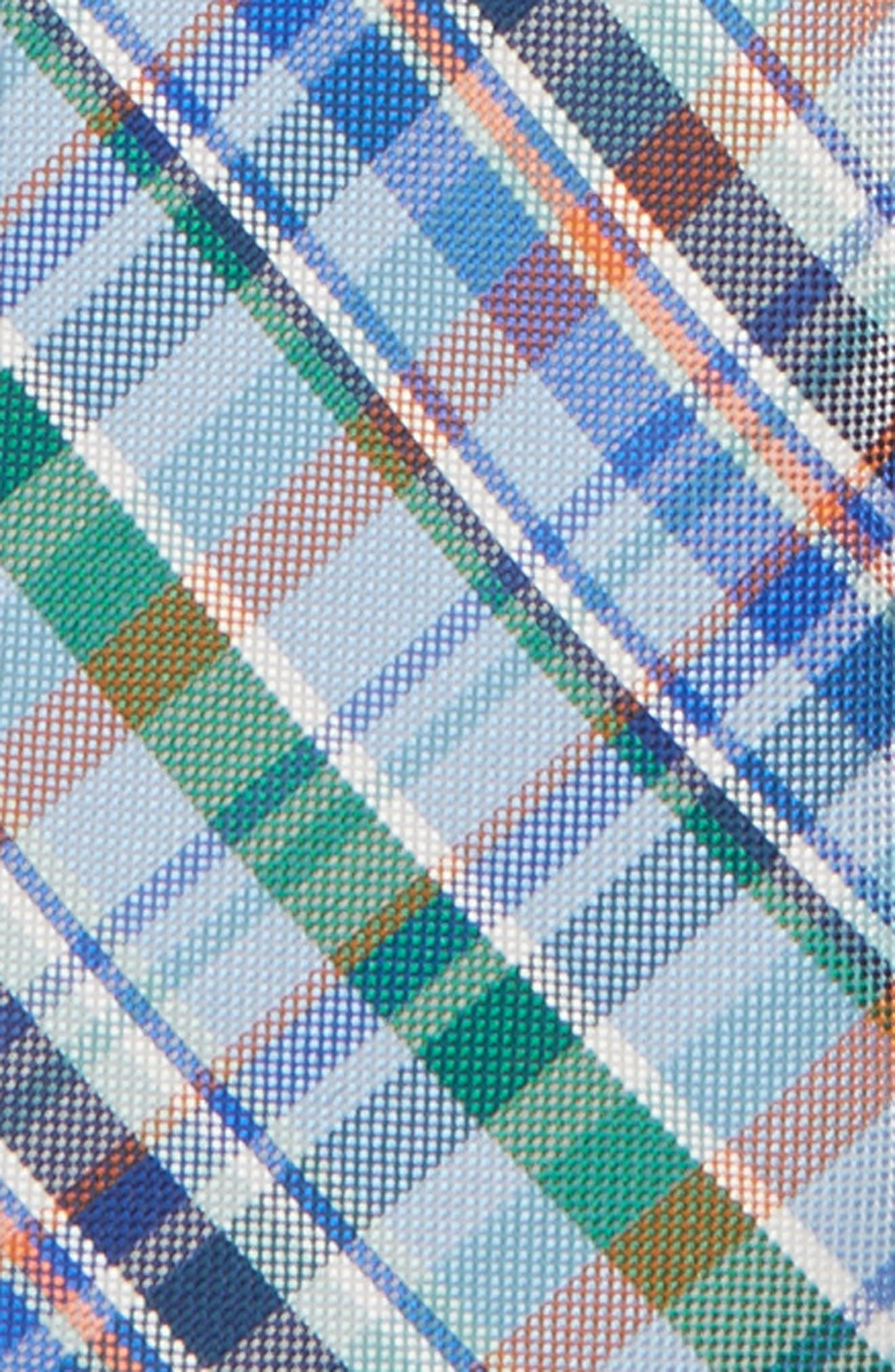 Campbell Plaid Silk Zip Tie,                             Alternate thumbnail 2, color,                             Navy