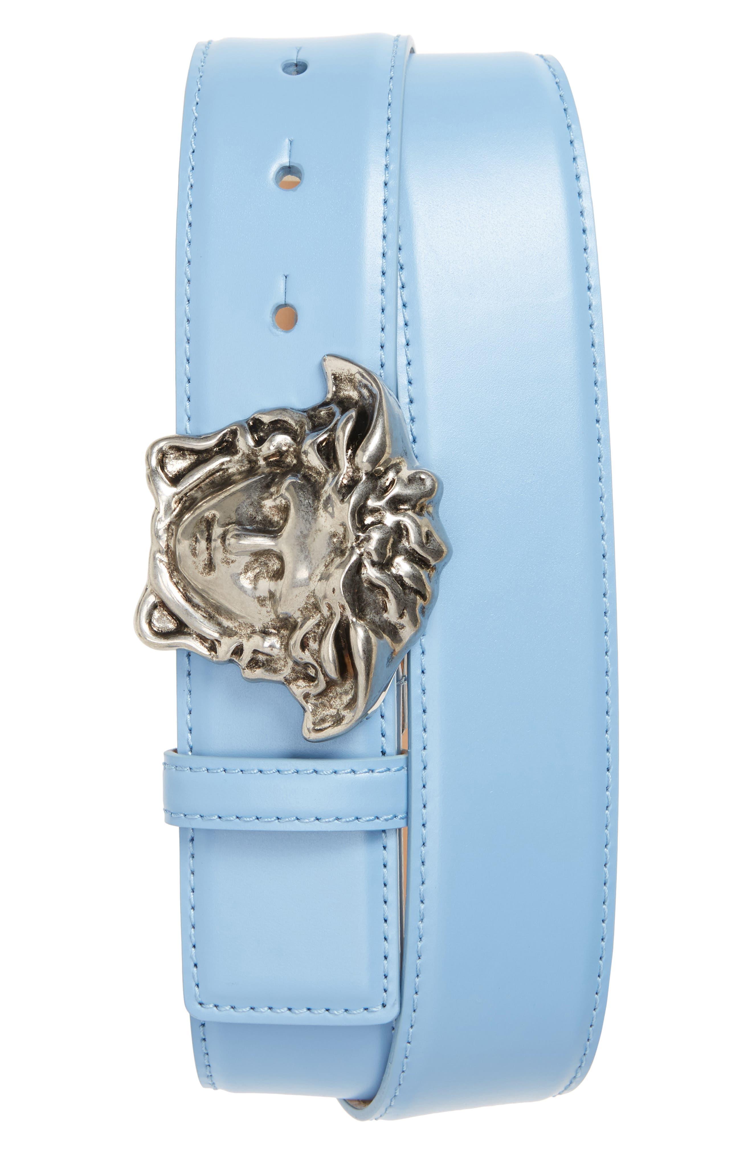 Versace First Line Medusa Head Leather Belt