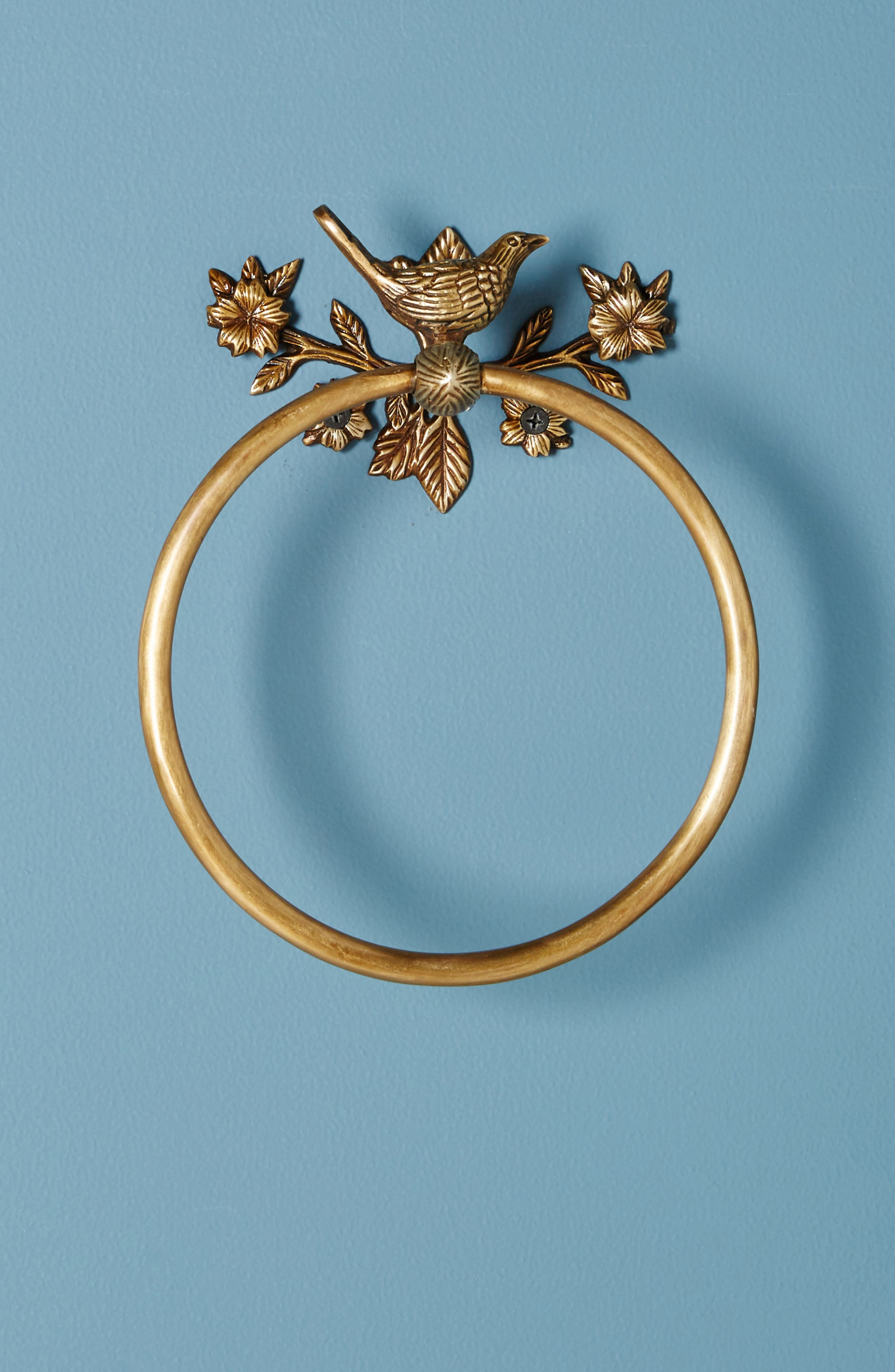 Everlee Towel Ring,                             Main thumbnail 1, color,                             Bronze