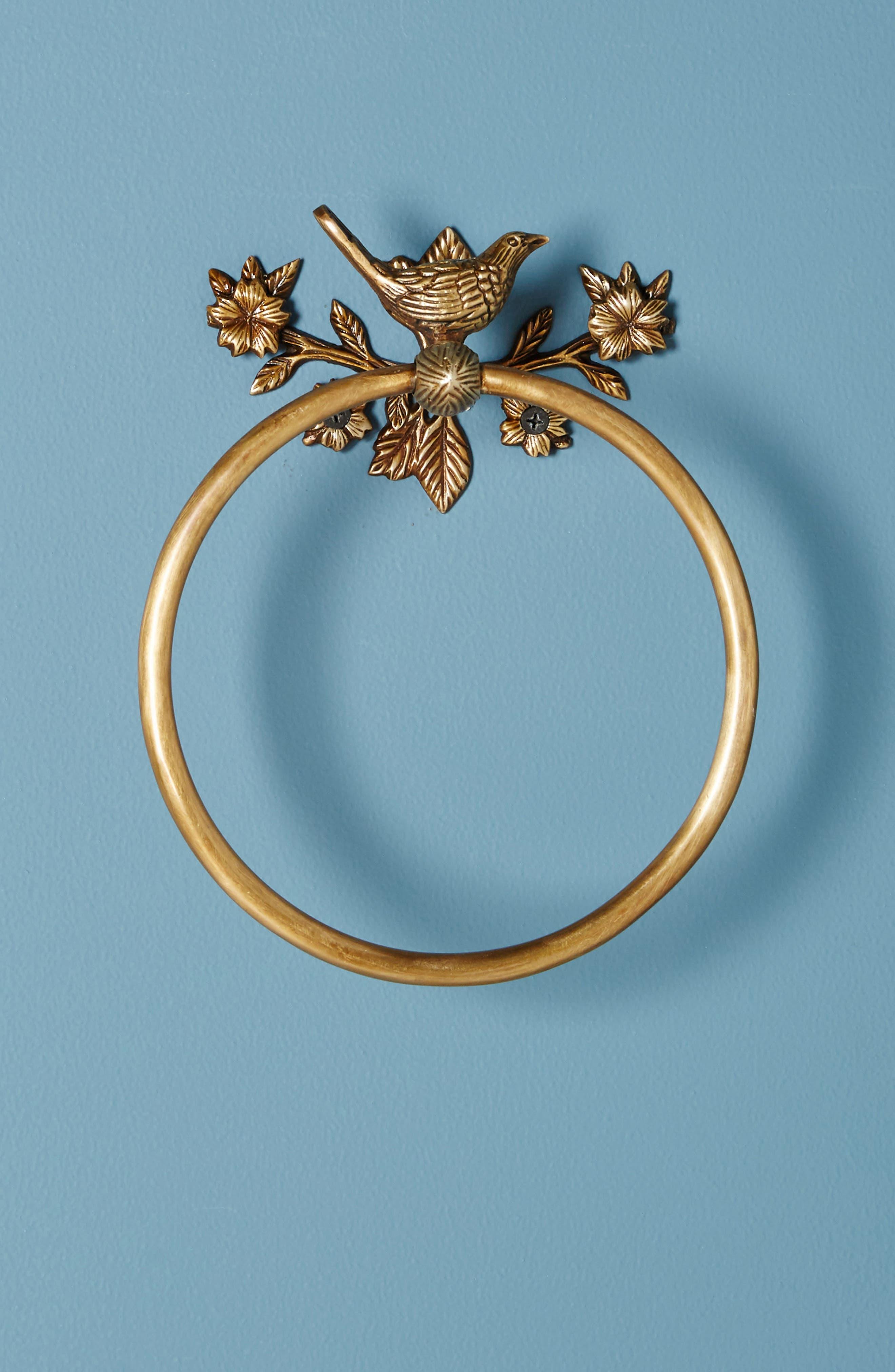 Everlee Towel Ring,                         Main,                         color, Bronze