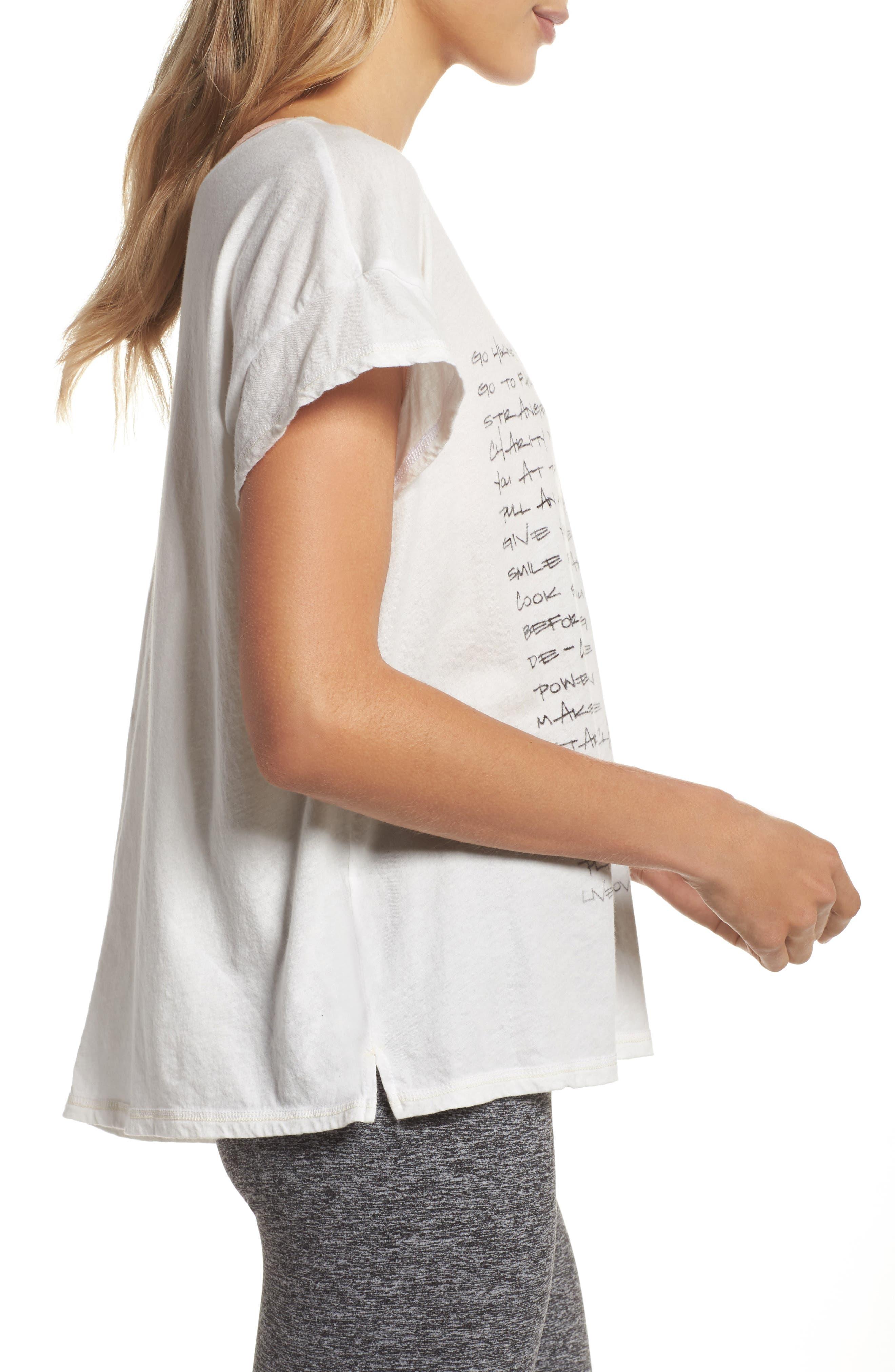 Claire To Do List Graphic Shirt,                             Alternate thumbnail 3, color,                             Salt
