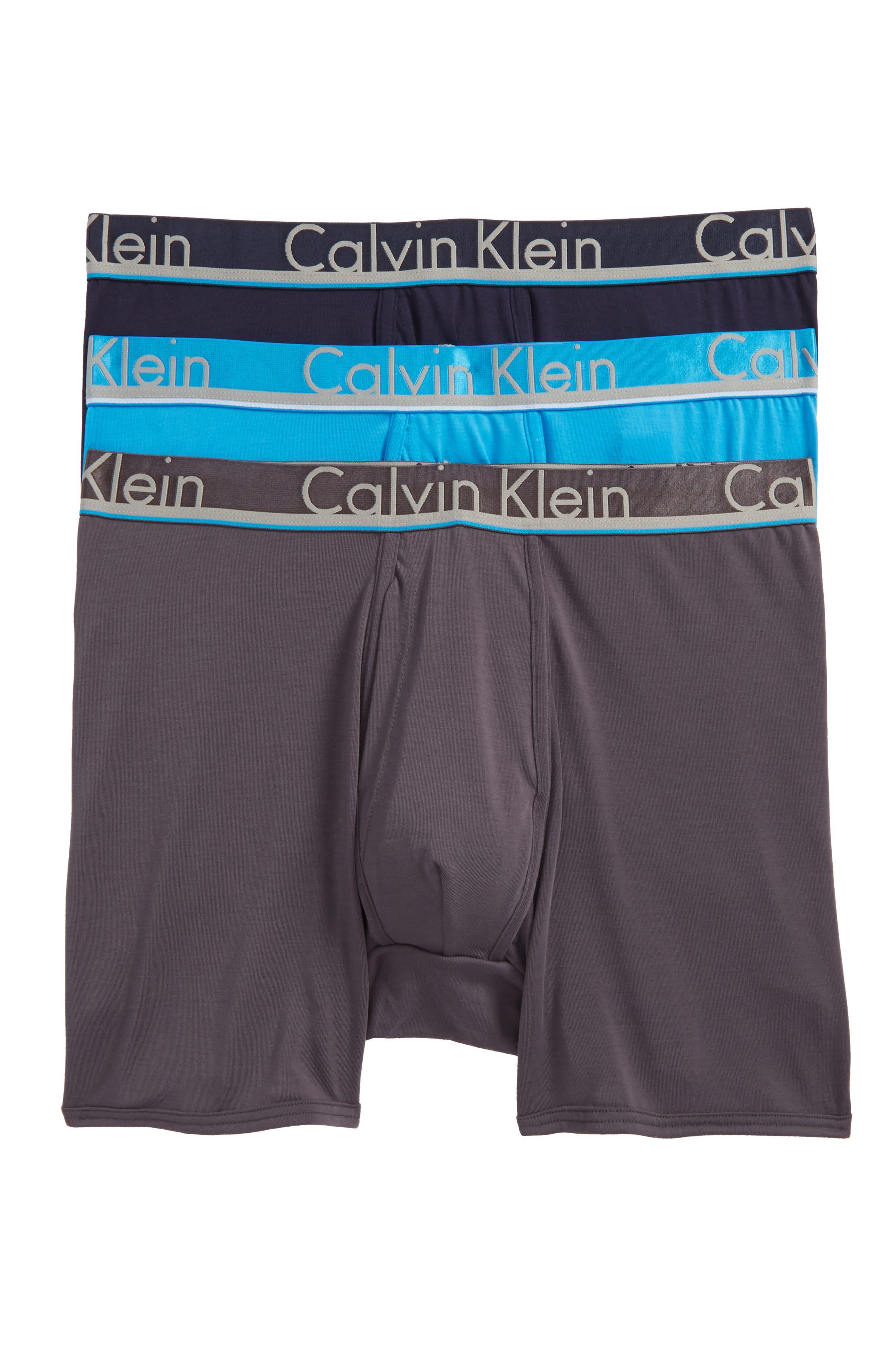 3-Pack Comfort Microfiber Boxer Briefs,                         Main,                         color, Navy/ Grey/ Blue