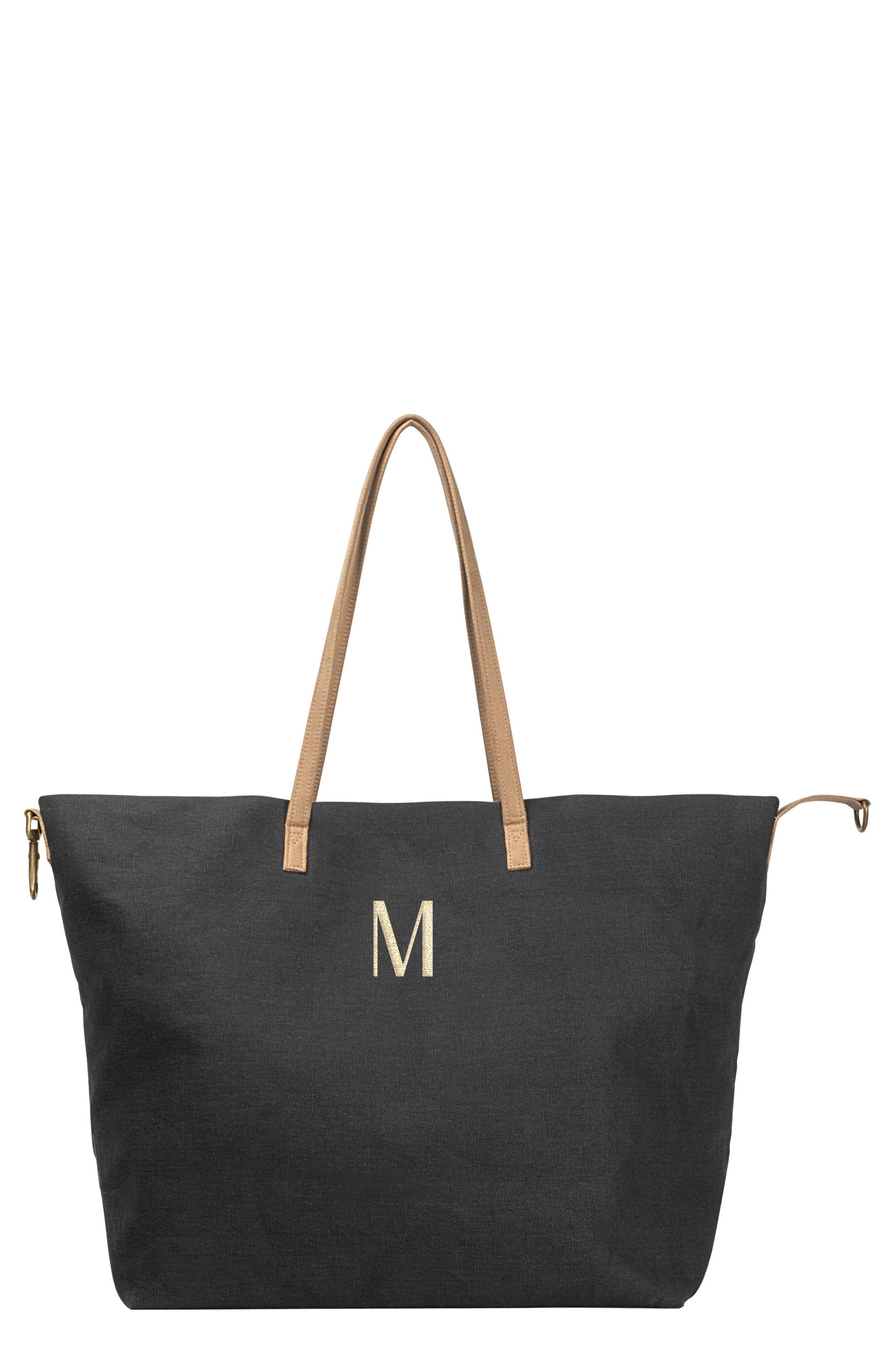Monogram Overnight Tote,                         Main,                         color, Black M