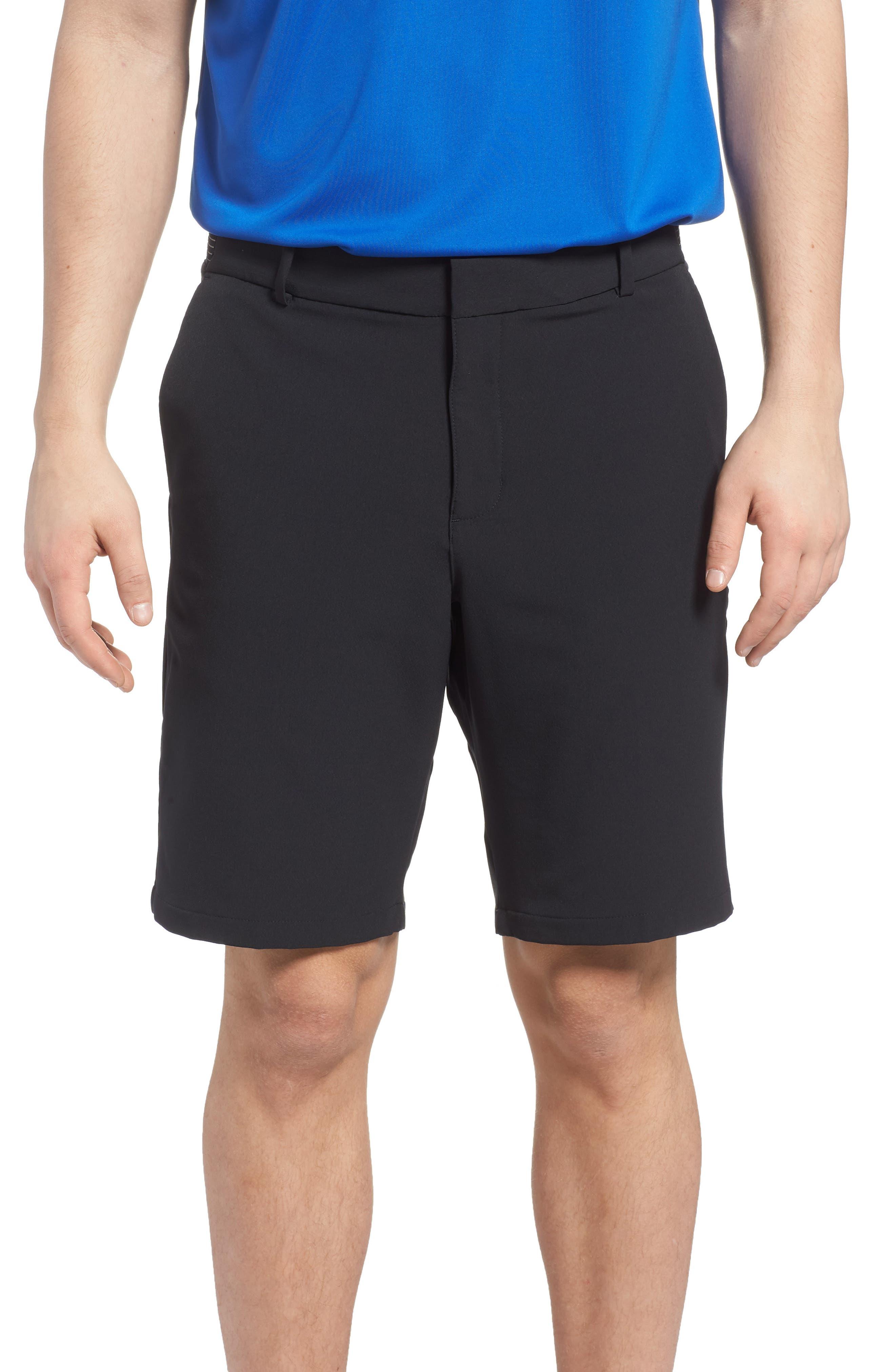Dry Flex Slim Fit Golf Shorts,                             Main thumbnail 1, color,                             Black/ Black