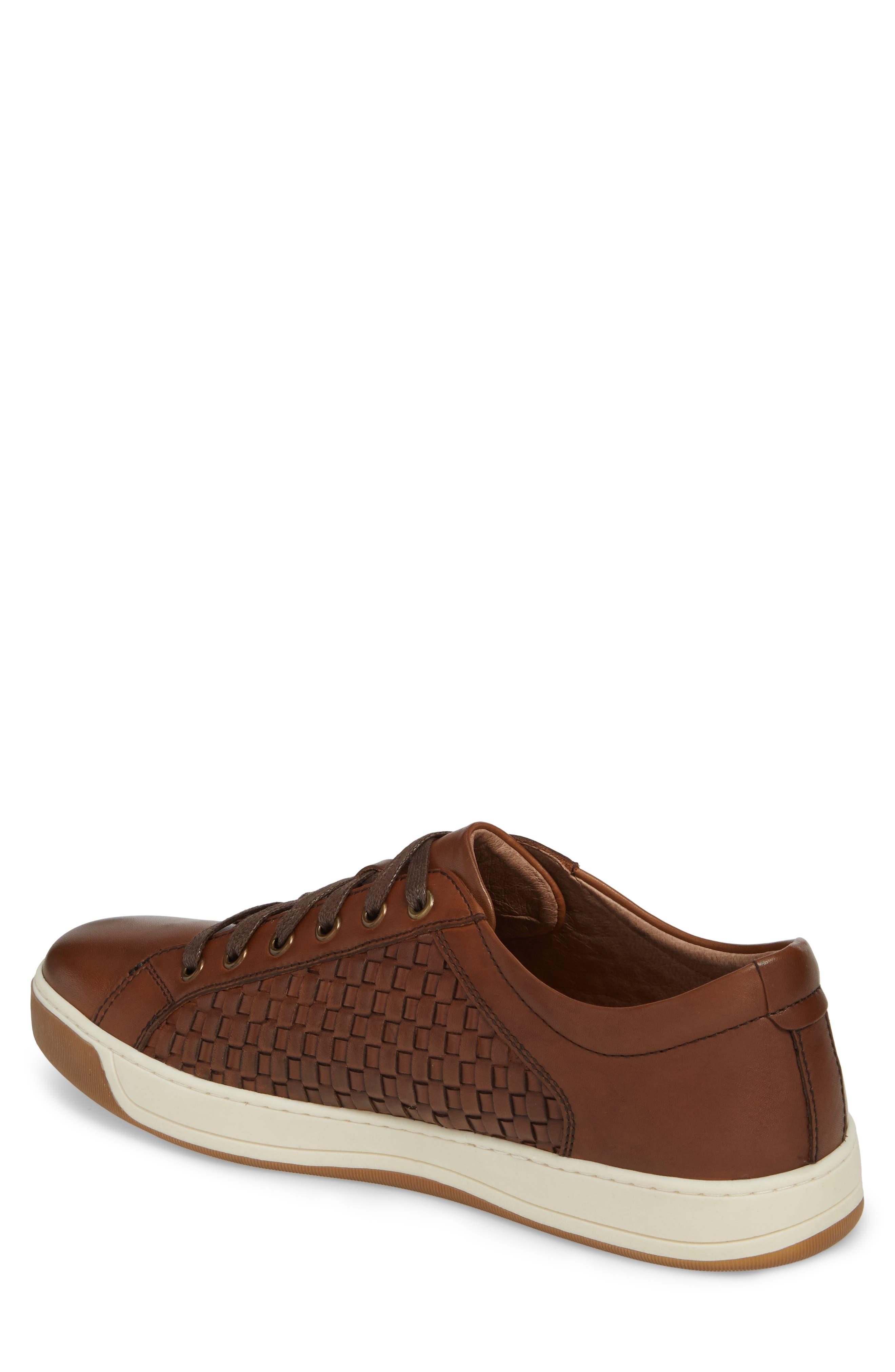 Allister Woven Low Top Sneaker,                             Alternate thumbnail 2, color,                             Brown