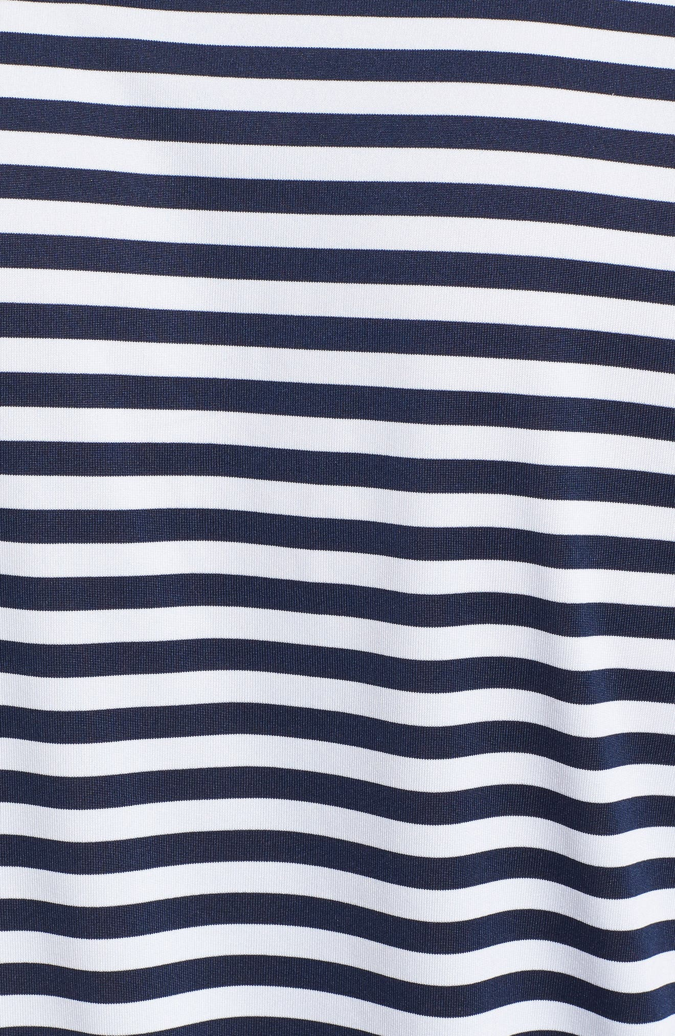 Dry Victory Stripe Golf Polo,                             Alternate thumbnail 5, color,                             College Navy/ White/ Black