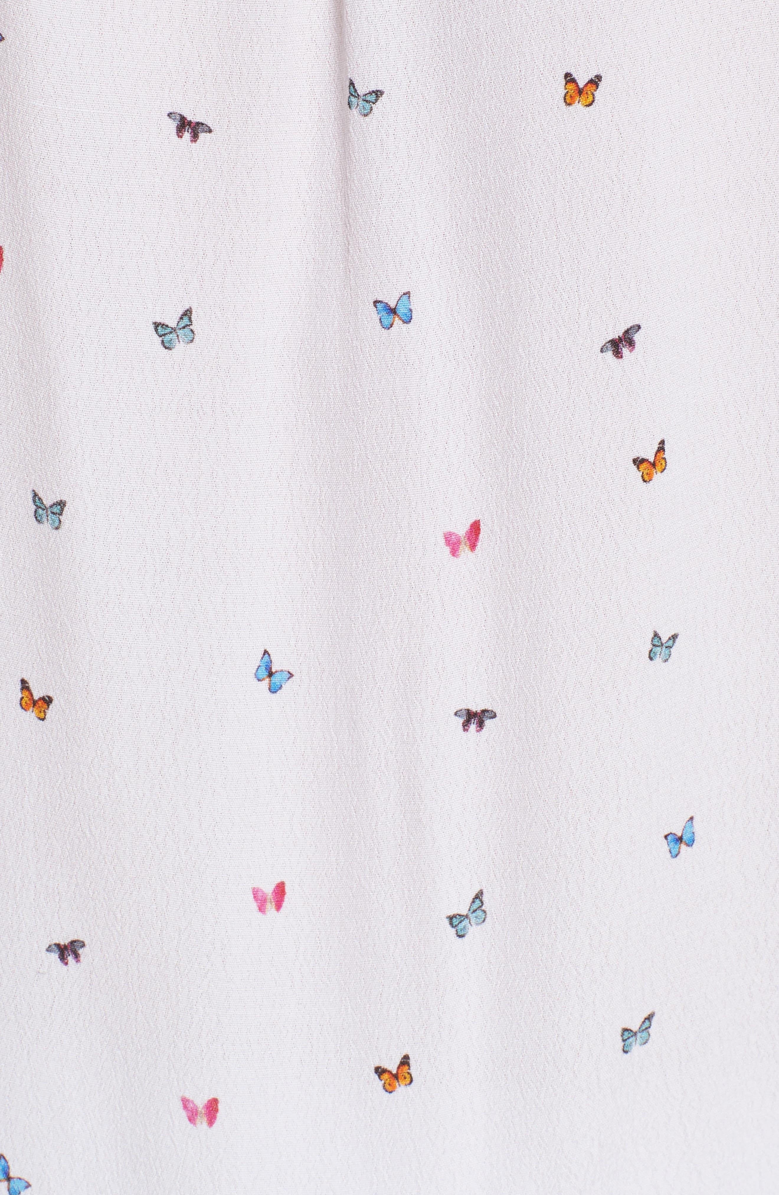 Bretton Top,                             Alternate thumbnail 6, color,                             Rainbow Butterflies-White