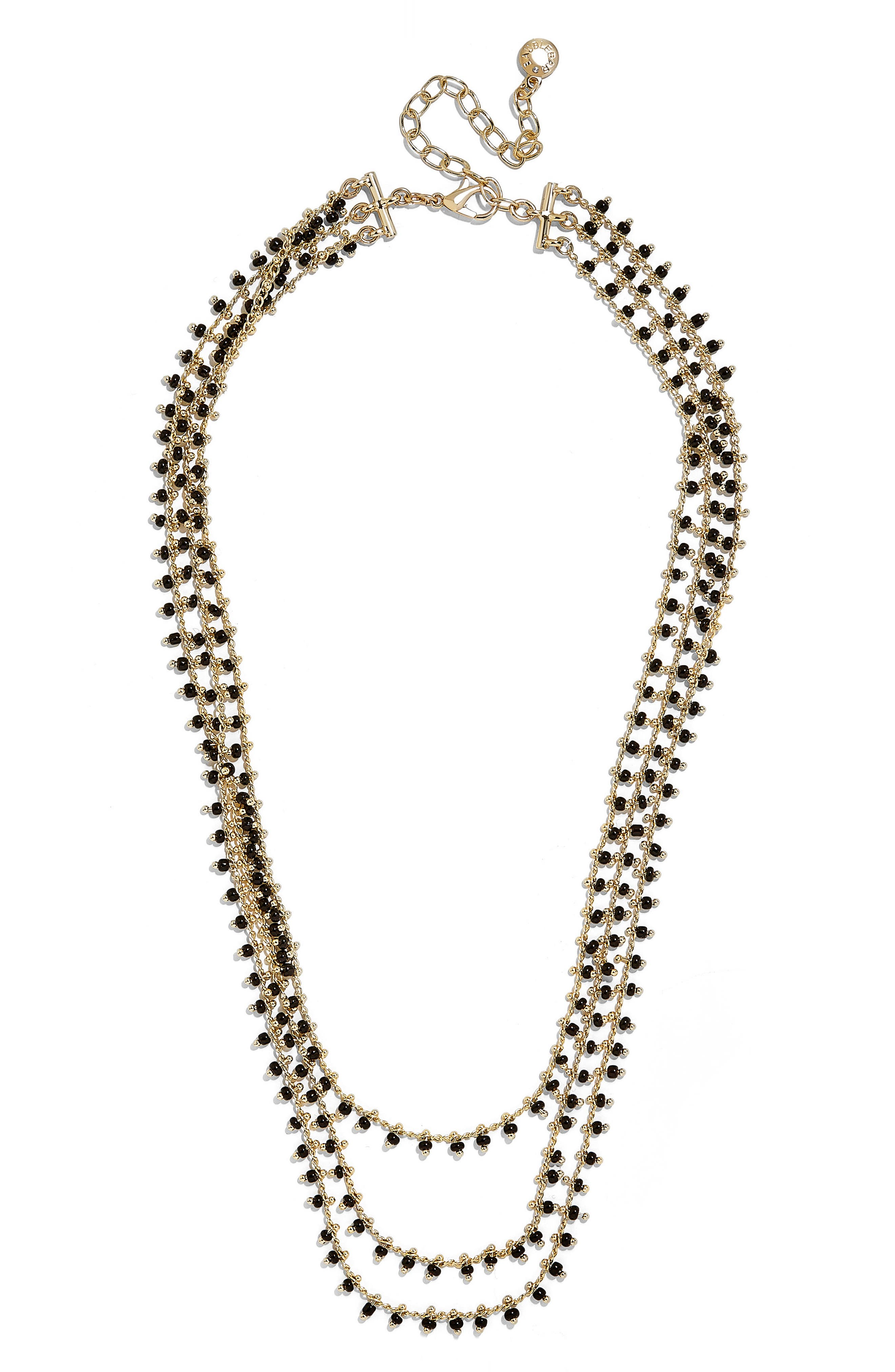 Kirrali Beaded Chain Necklace,                             Main thumbnail 1, color,                             Black