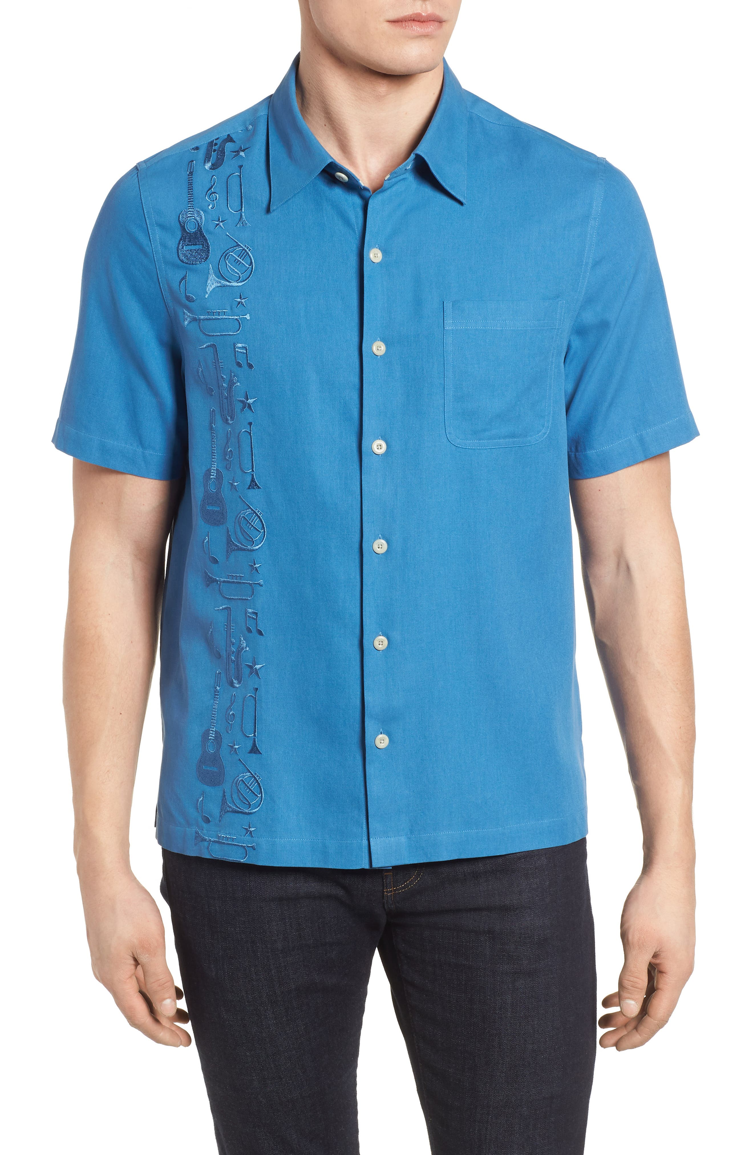 Music Camp Shirt,                         Main,                         color, Cornflower
