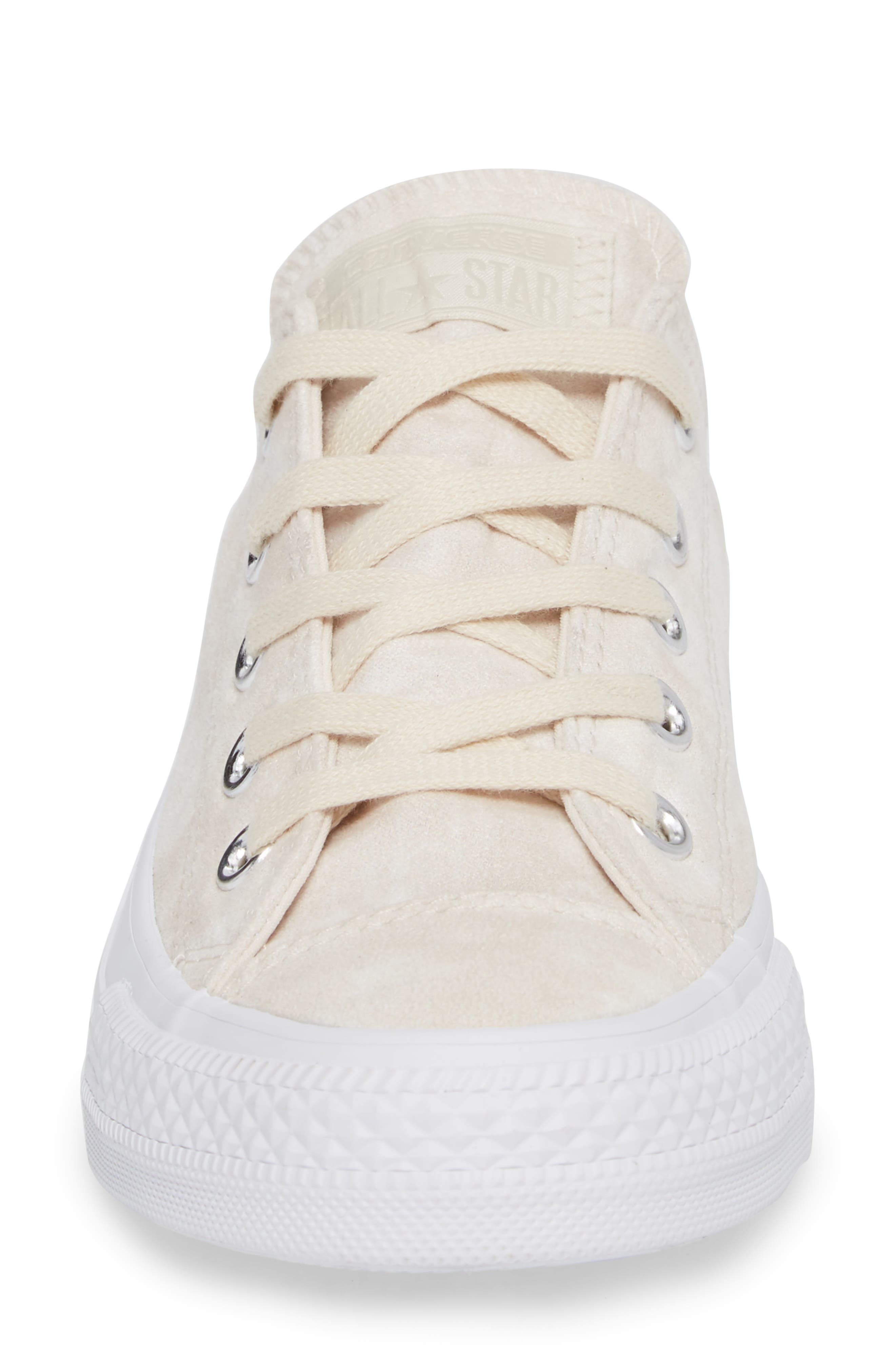 Chuck Taylor<sup>®</sup> All Star<sup>®</sup> Peached Low Top Sneaker,                             Alternate thumbnail 4, color,                             Driftwood