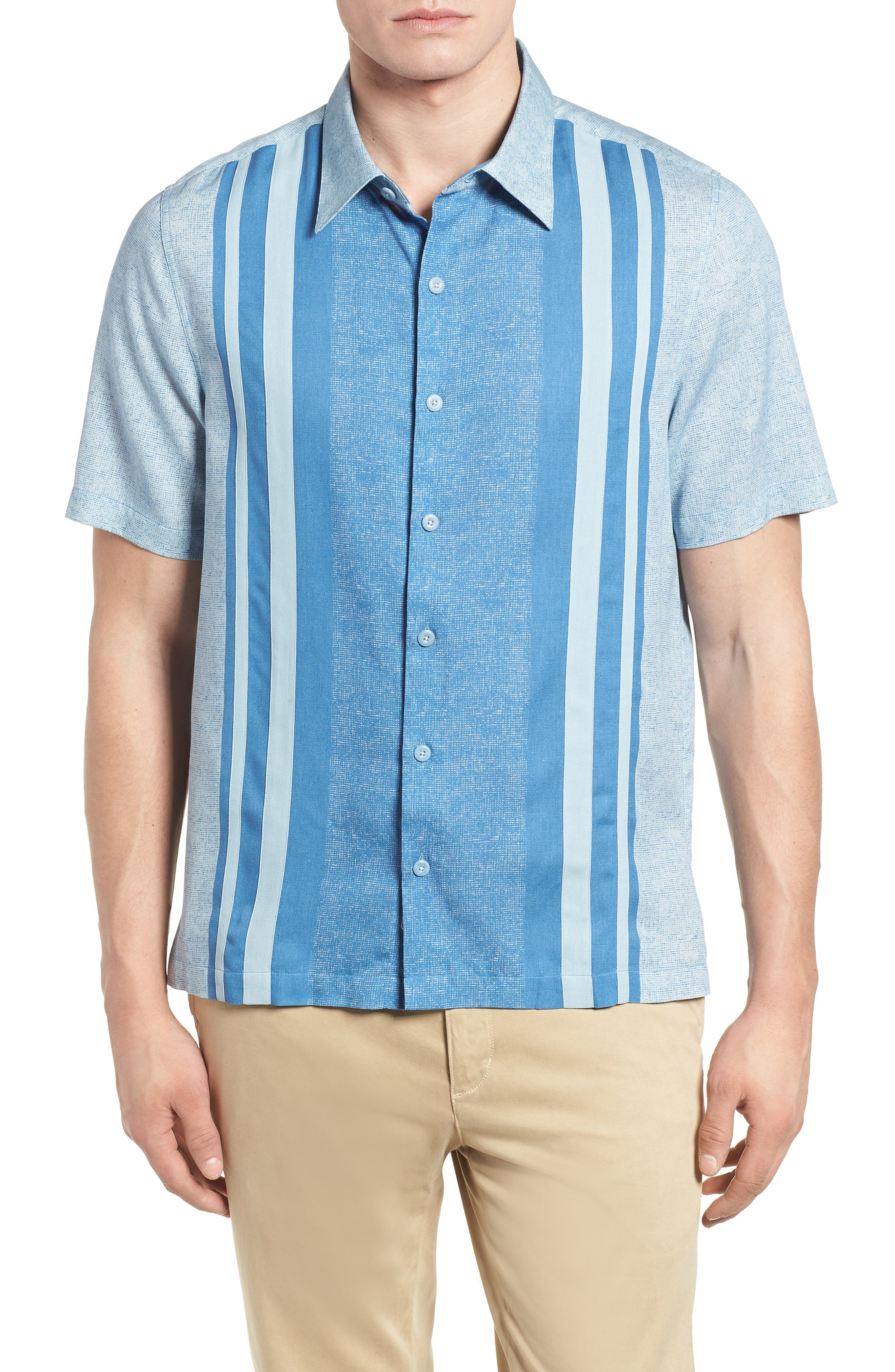 All Mixed Up Camp Shirt,                         Main,                         color, Cornflower