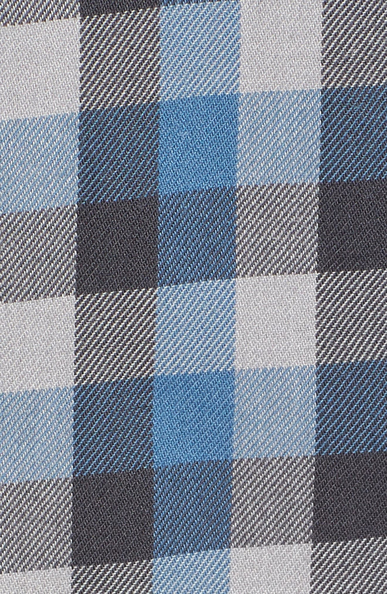 Alameda II Plaid Flannel Shirt,                             Alternate thumbnail 5, color,                             Asphalt/ Copen Blue