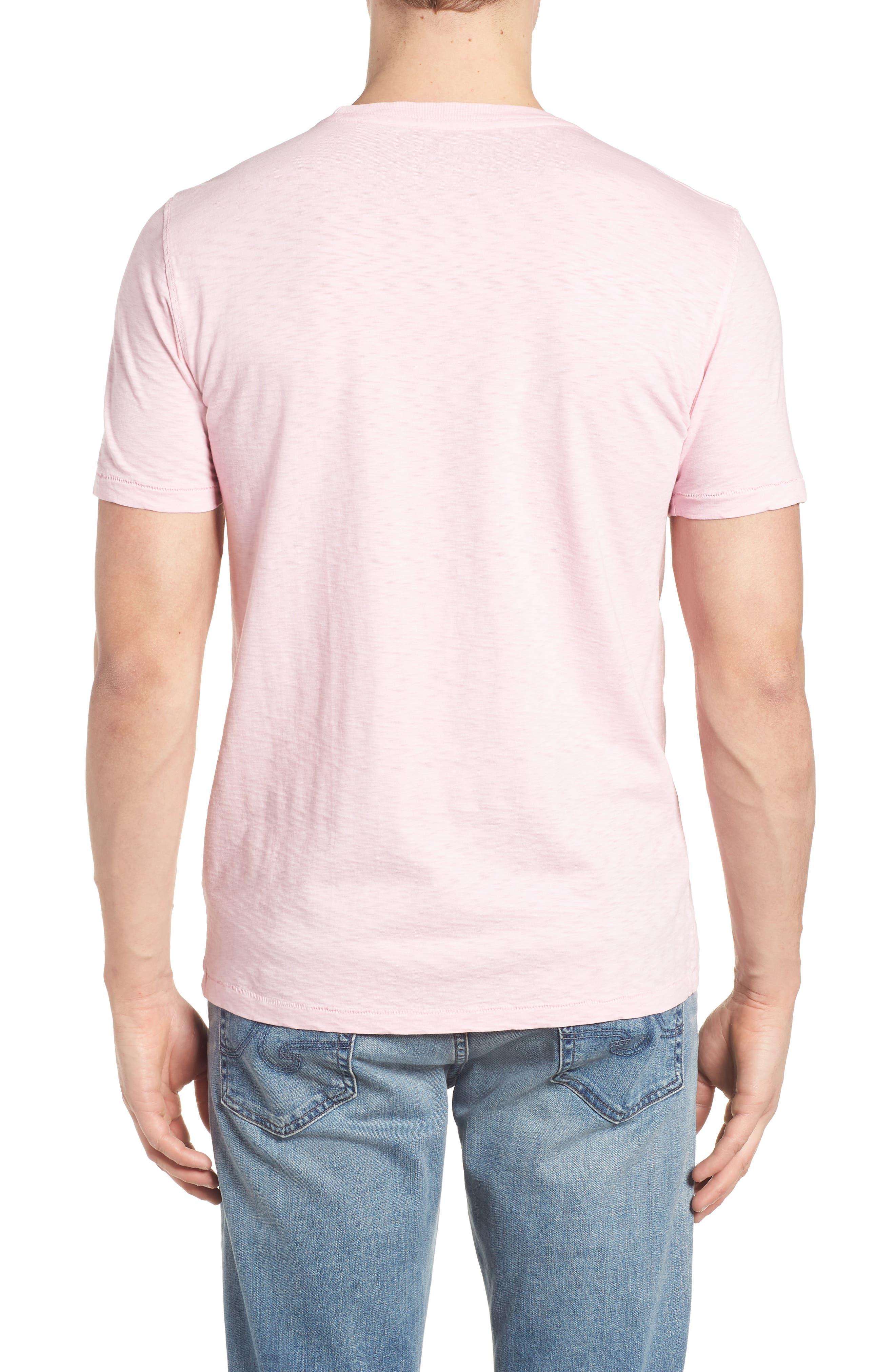 Slub Knit T-Shirt,                             Alternate thumbnail 2, color,                             Pink