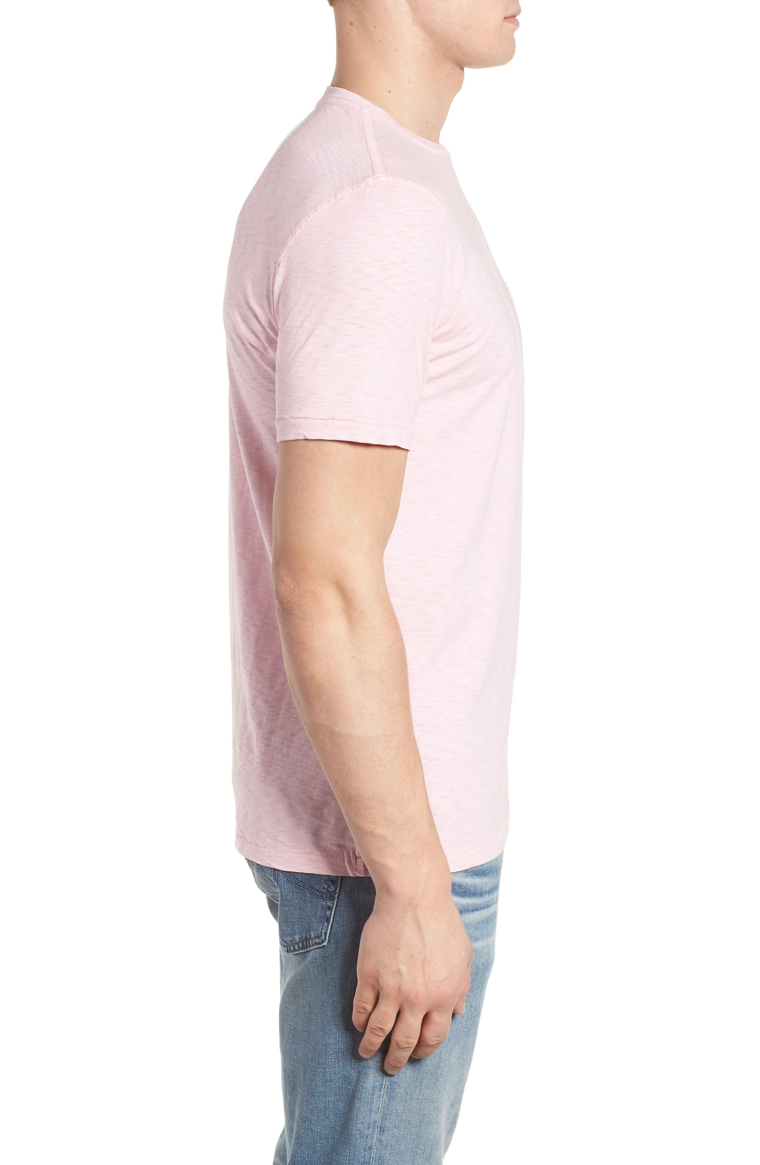 Slub Knit T-Shirt,                             Alternate thumbnail 3, color,                             Pink