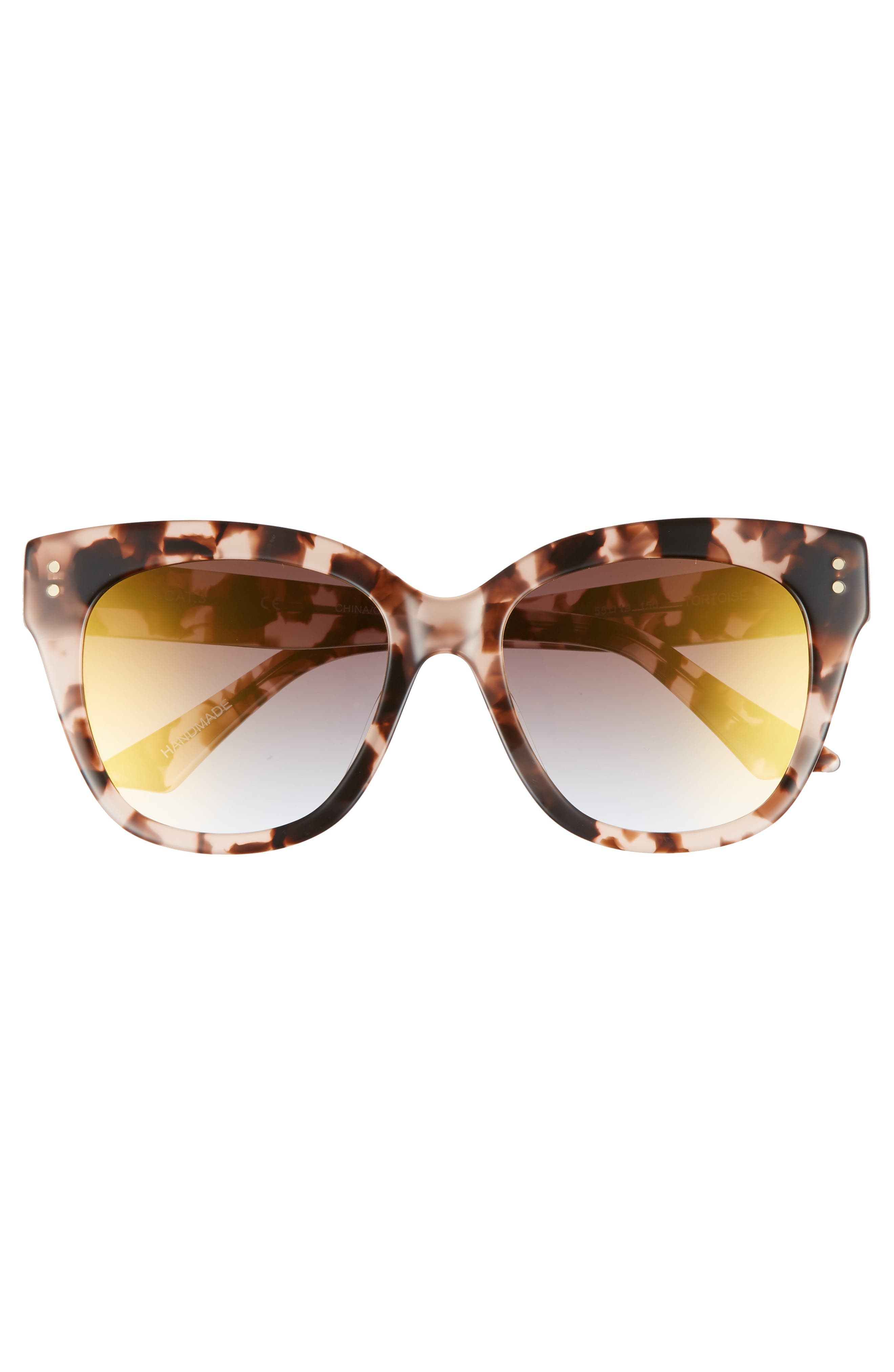 See Saw 55mm Cat Eye Sunglasses,                             Alternate thumbnail 3, color,                             Dogwood- Gold