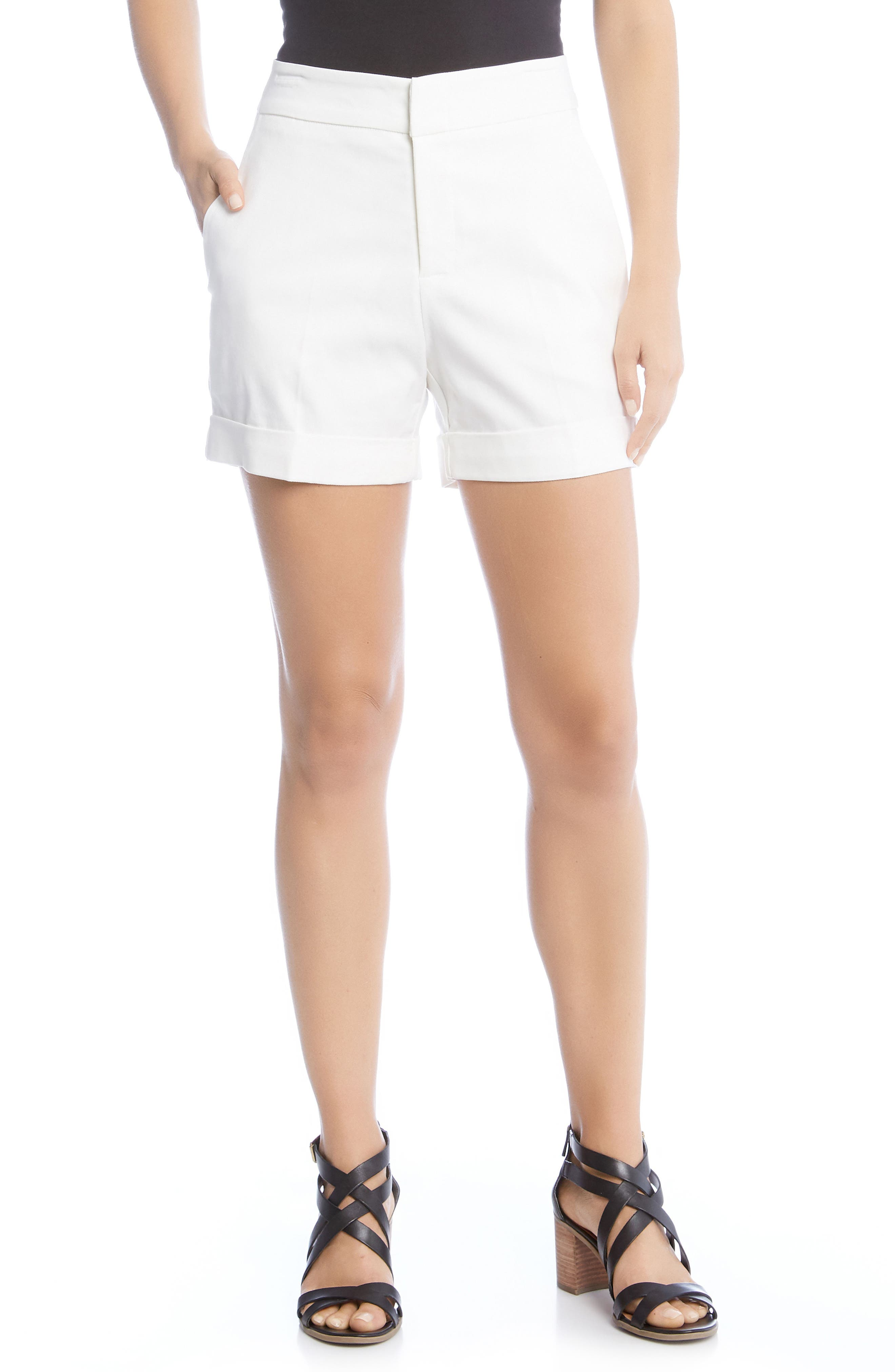 Cuff Shorts,                         Main,                         color, Off White