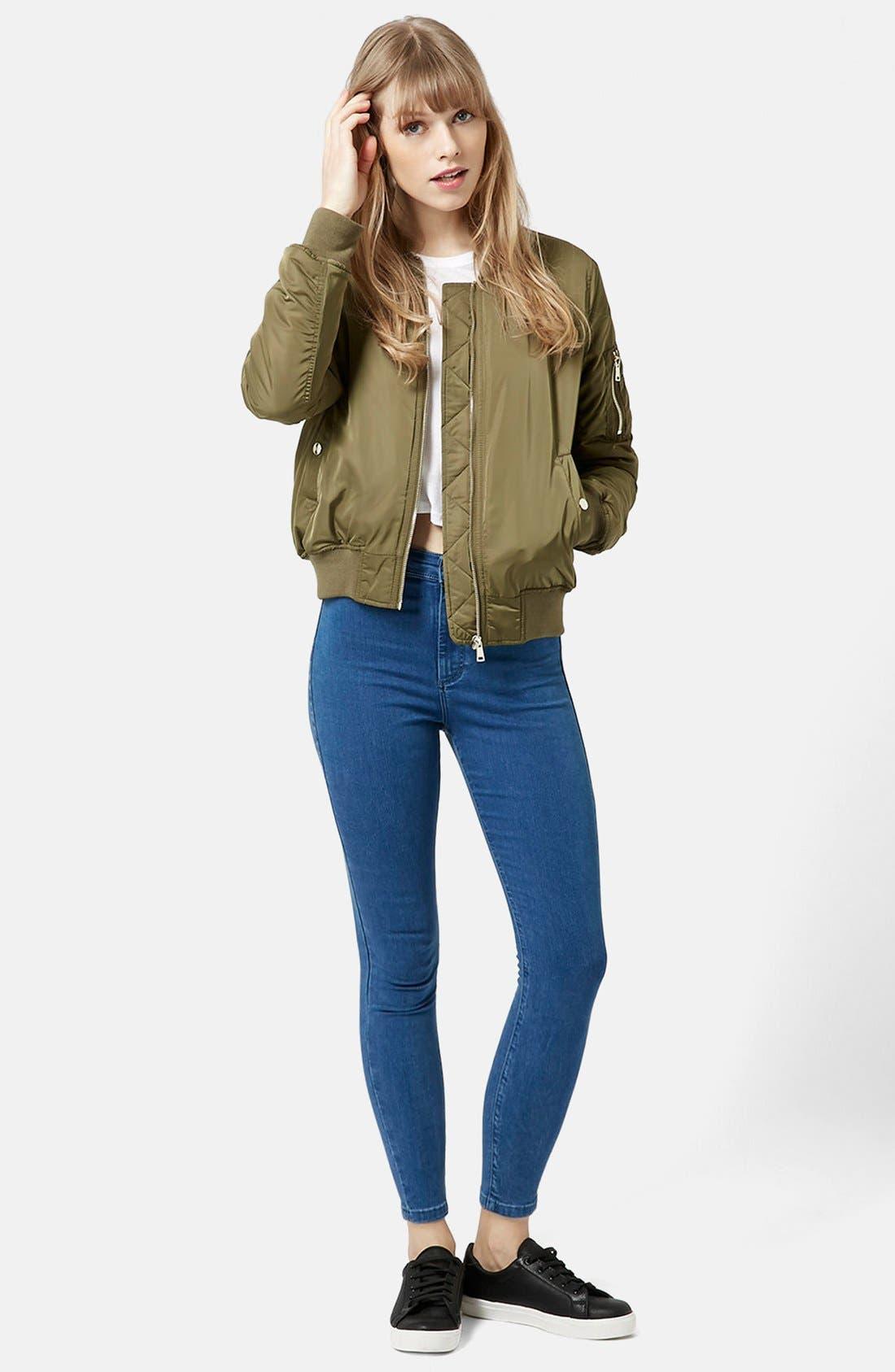 Alternate Image 5  - Topshop Moto 'Joni' High Rise Super Skinny Jeans (Mid Denim) (Petite)