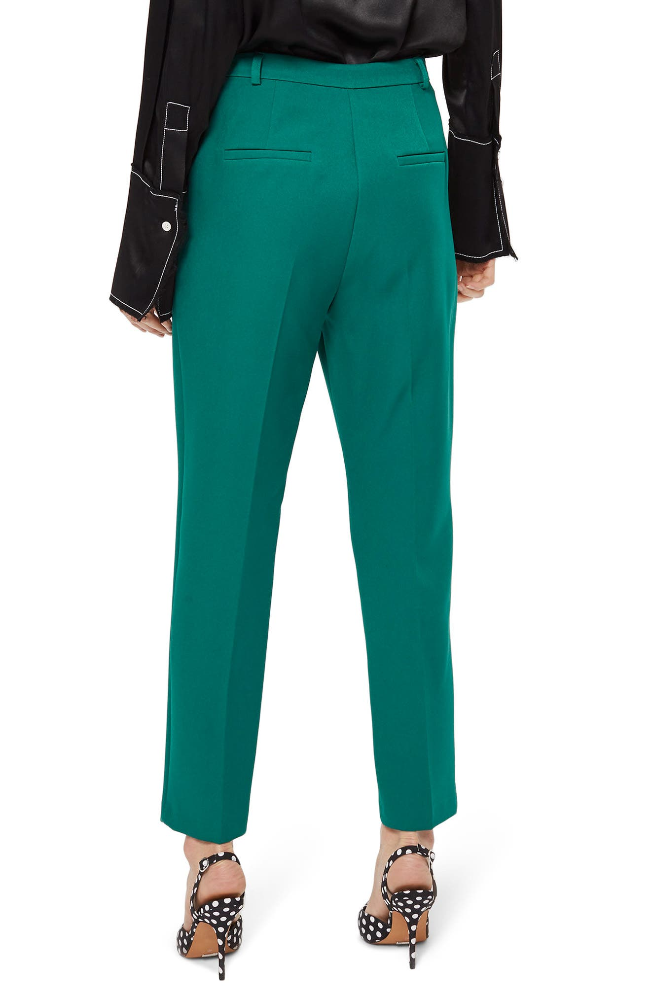 Cory Cigarette Suit Trousers,                             Alternate thumbnail 3, color,                             Green