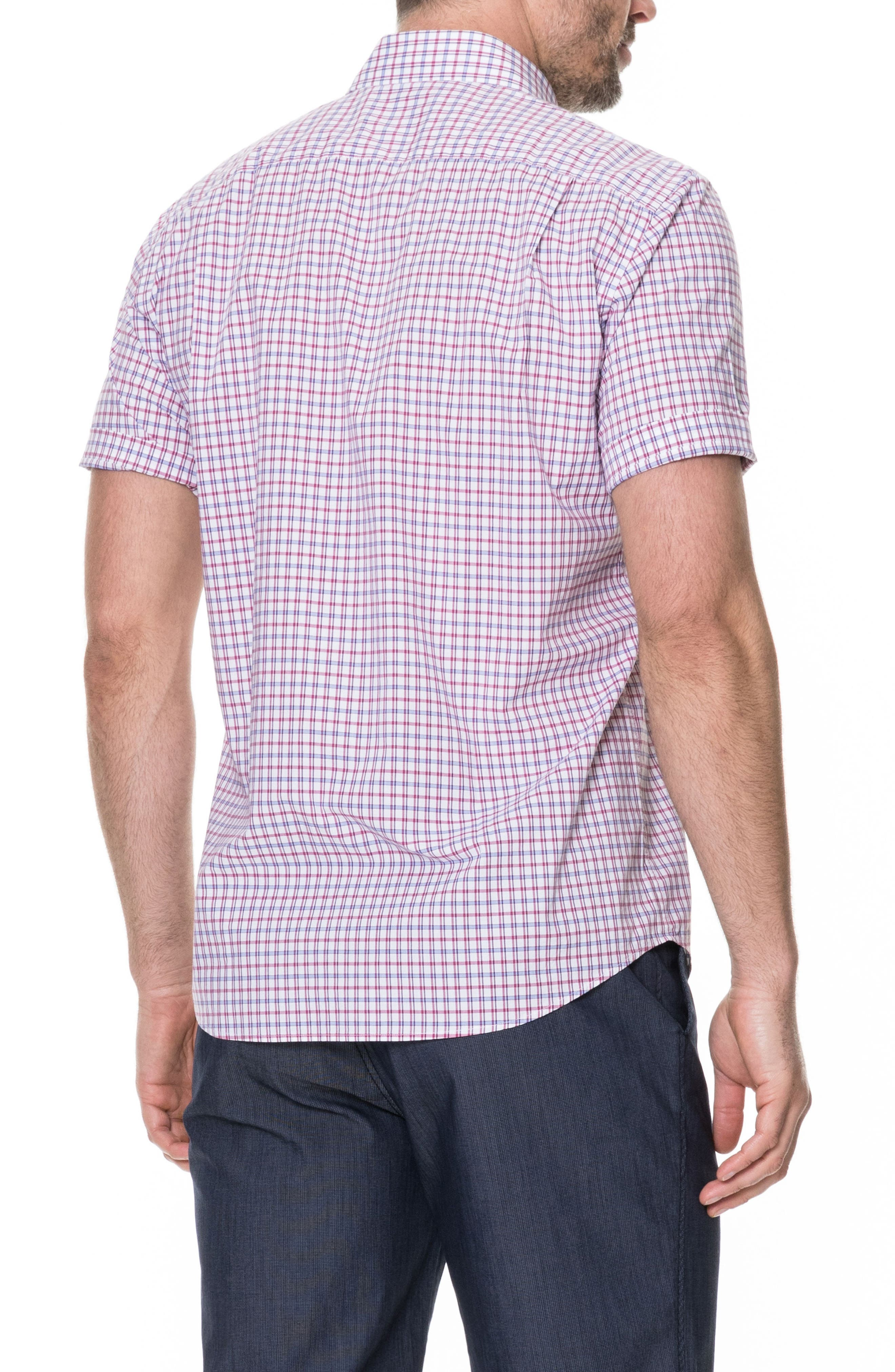 Waterford Regular Fit Sport Shirt,                             Alternate thumbnail 3, color,                             Mulberry
