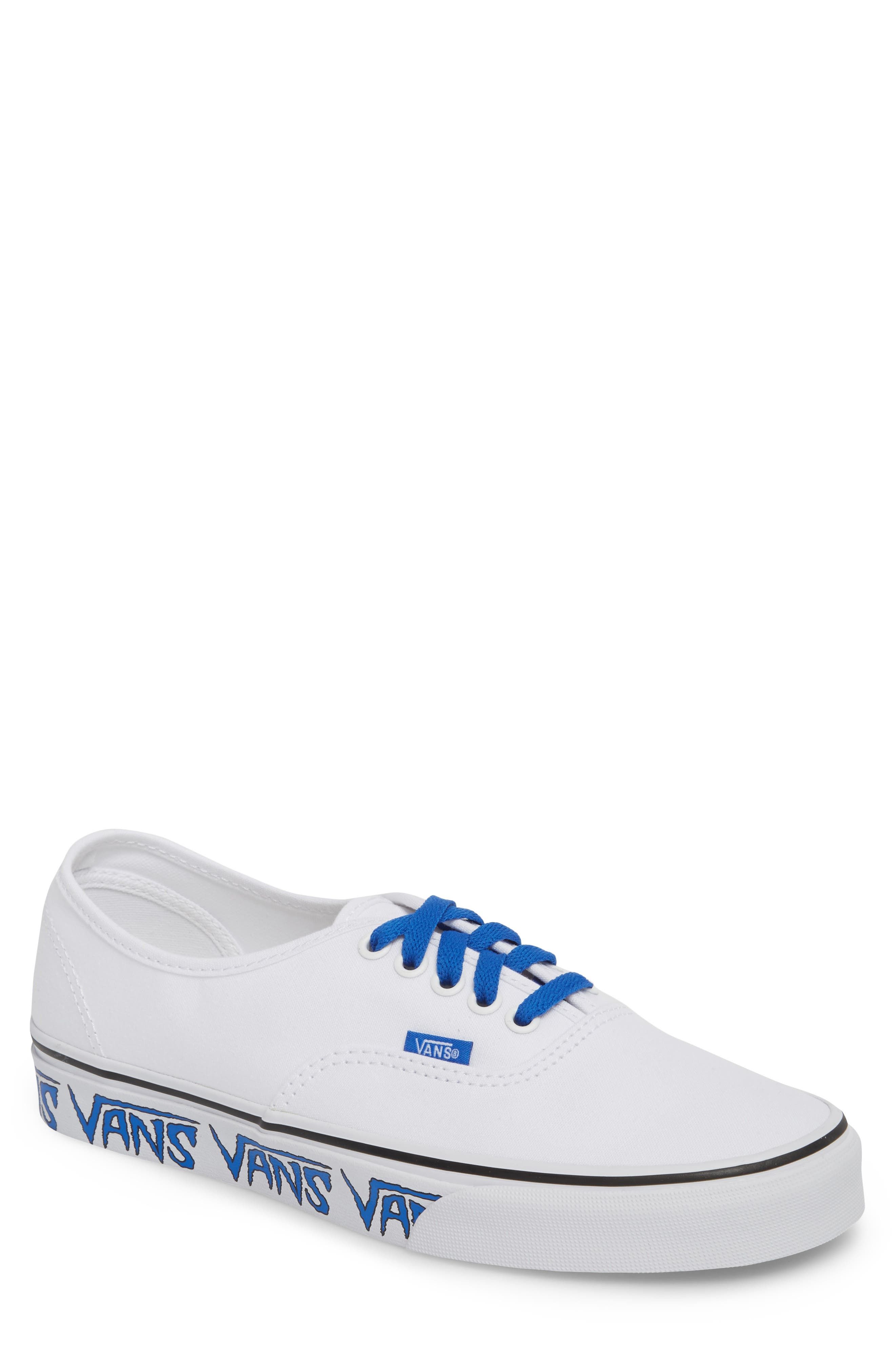 Authentic Sketch Sidewall Sneaker,                         Main,                         color, True White/ Victoria Blue
