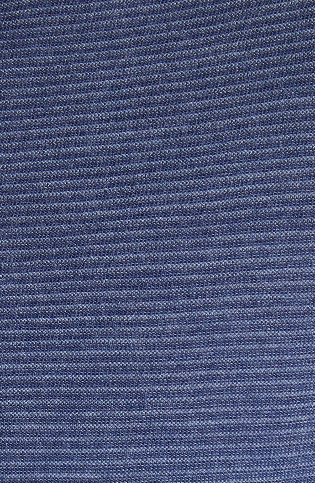 Alternate Image 5  - Canali Stripe Crewneck Wool Sweater