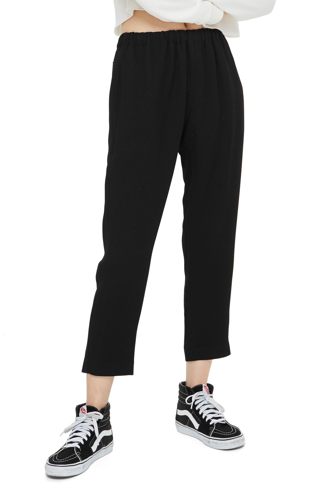 Drawcord Jogger Pants,                             Main thumbnail 1, color,                             Black
