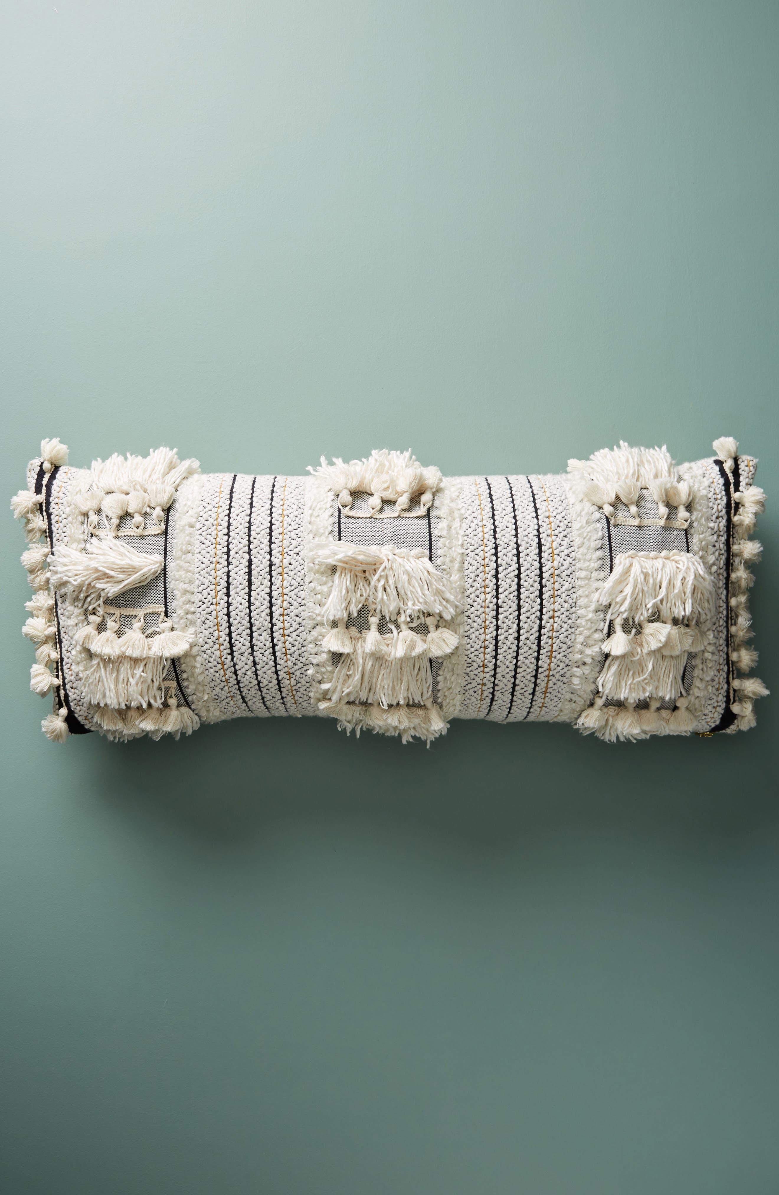 Edna Woven Accent Pillow,                         Main,                         color, Black/ White Combo