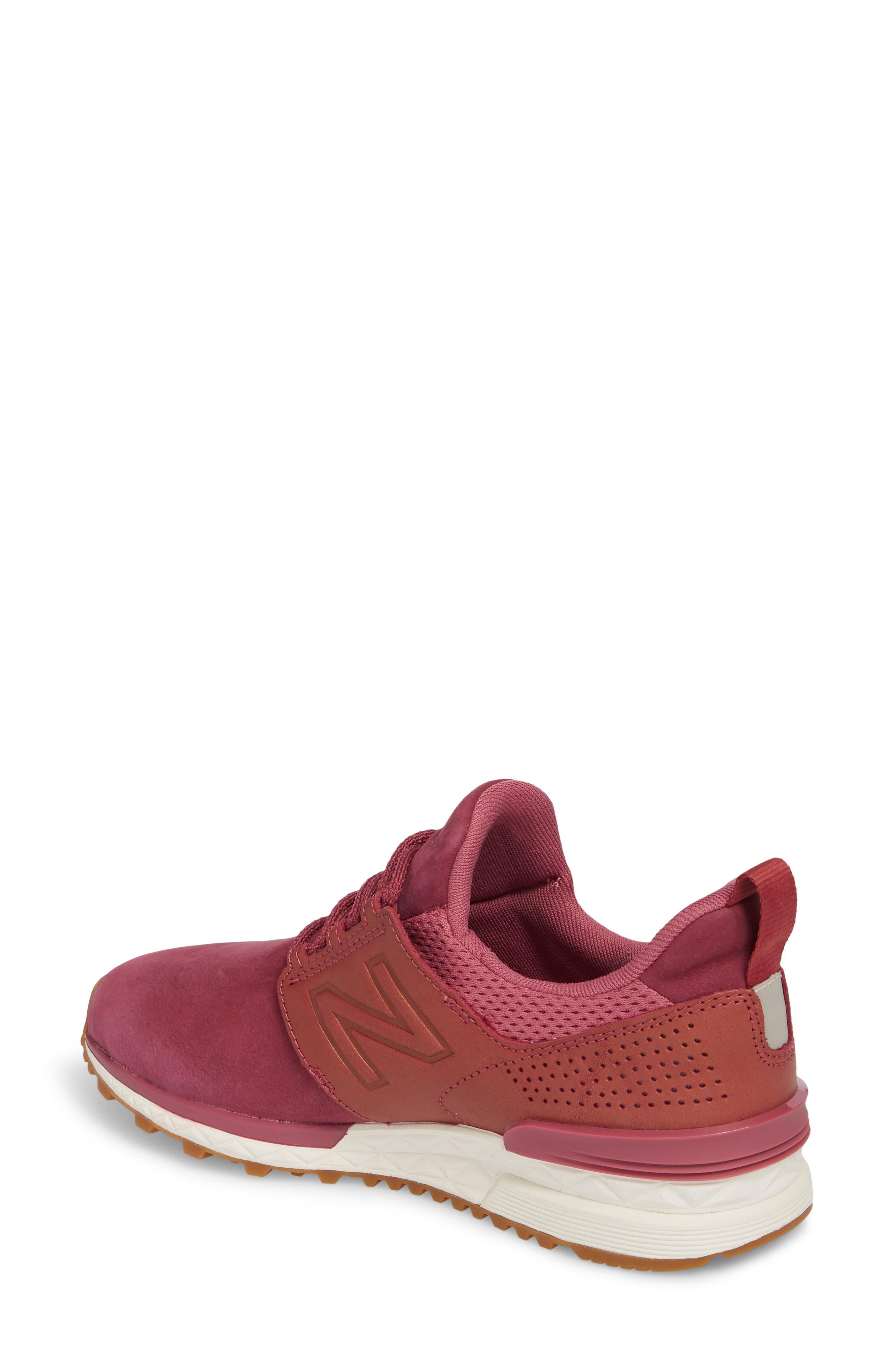 Nubuck 574 Sport Sneaker,                             Alternate thumbnail 2, color,                             Dragon Fruit