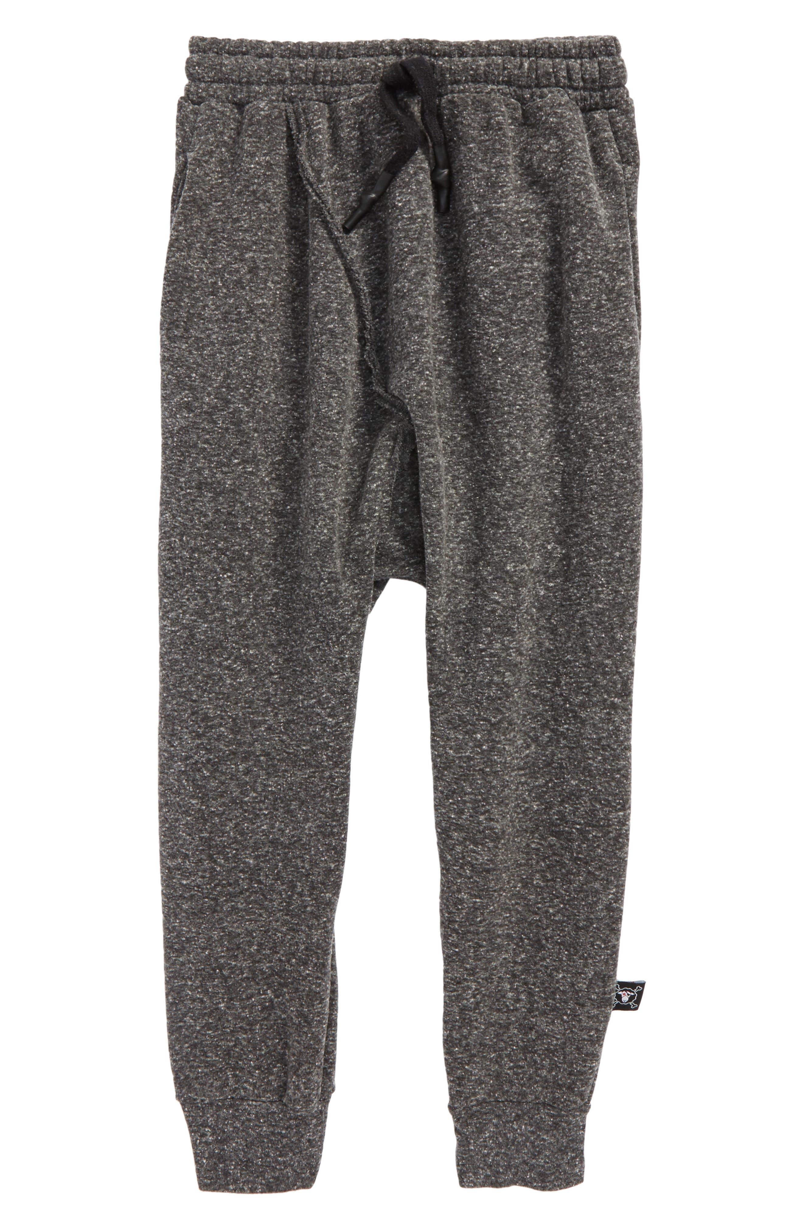 Raw Baggy Pants,                         Main,                         color, Charcoal