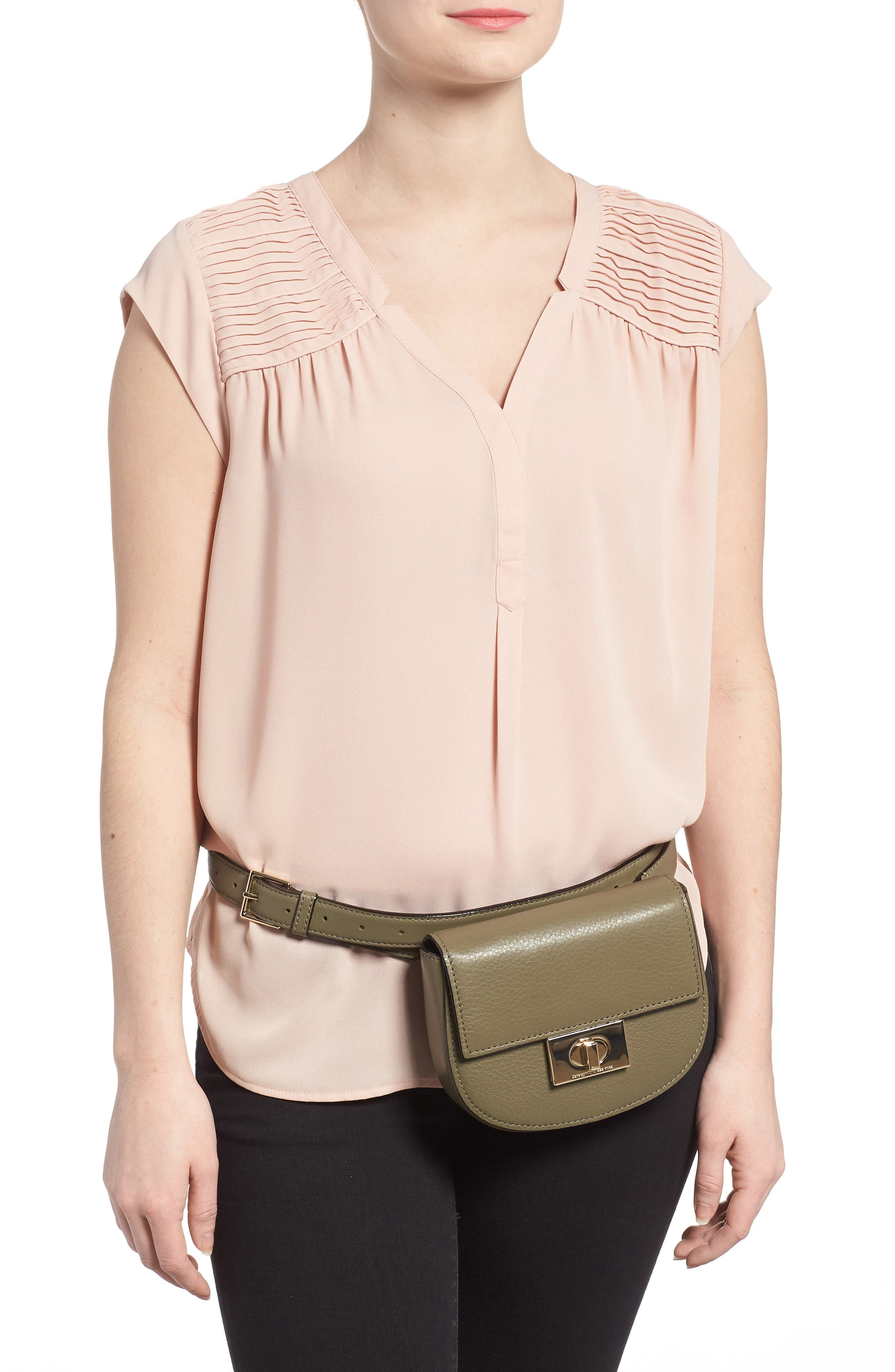 greenwood place rita leather belt bag,                             Alternate thumbnail 2, color,                             Olive