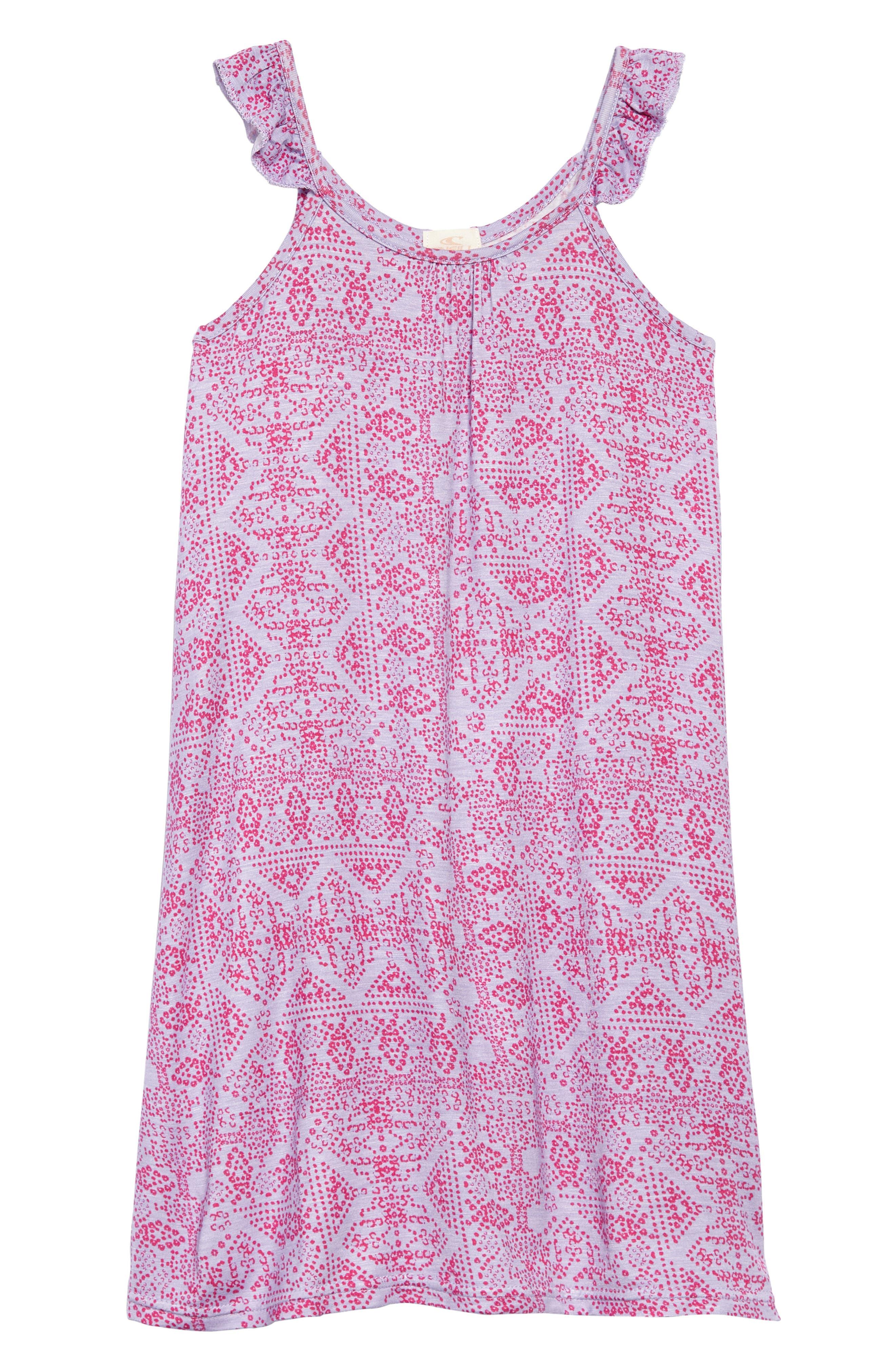 Carissa Ruffle Strap Sundress,                         Main,                         color, Heriloom Lilac