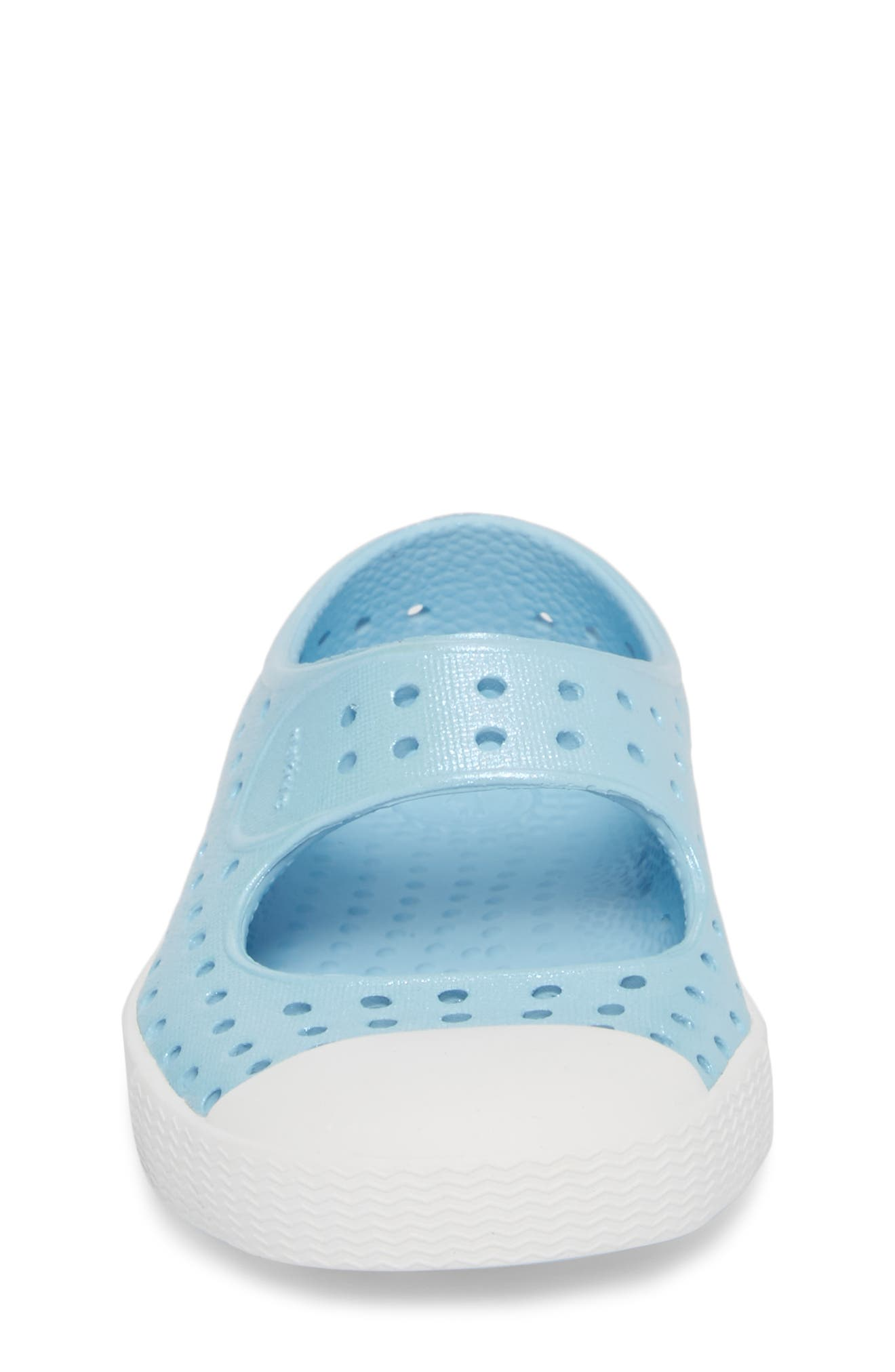 Juniper Perforated Mary Jane,                             Alternate thumbnail 4, color,                             Sky Blue/ White/ Galaxy