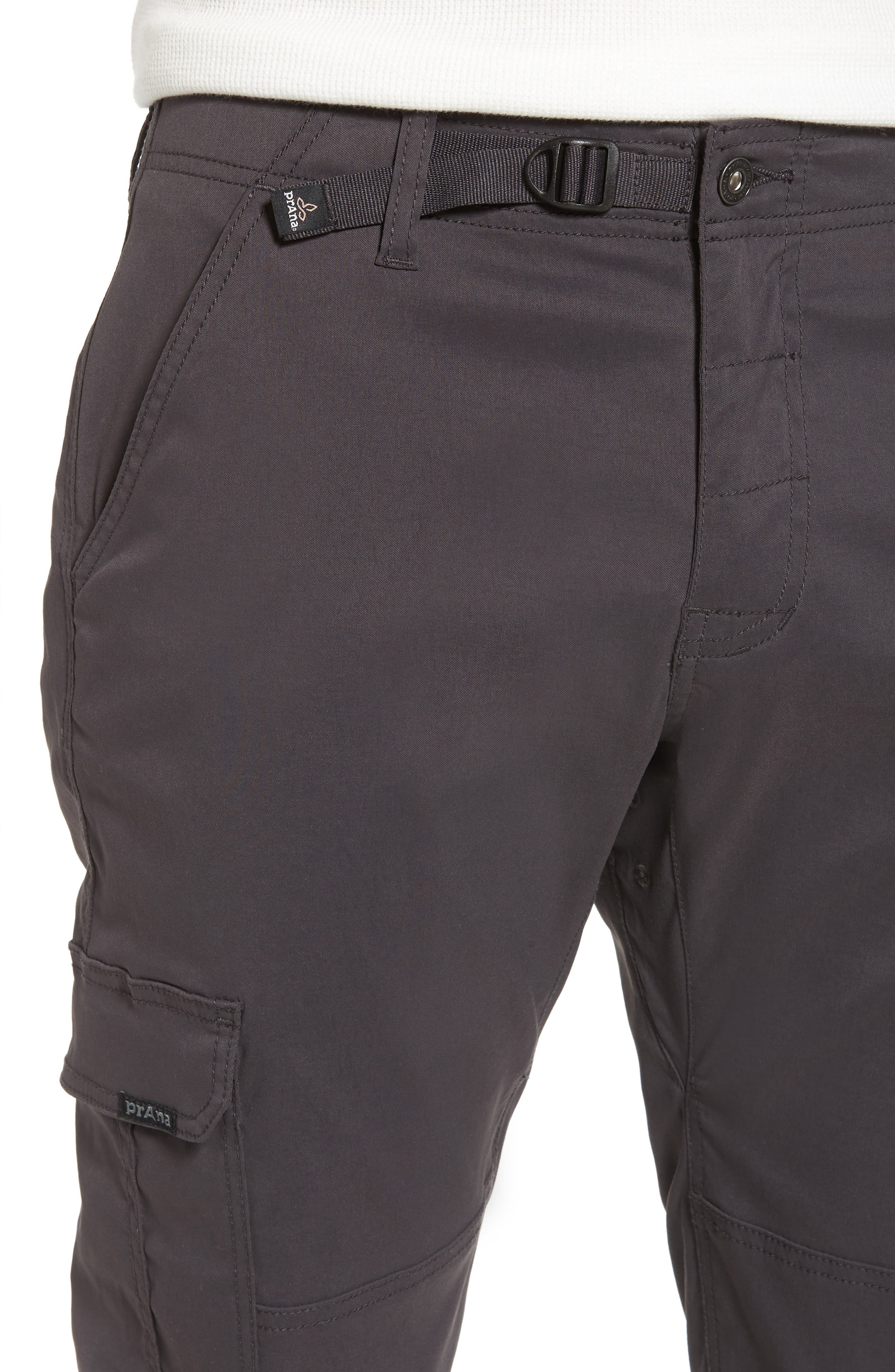 Zion Water Repellent Stretch Jogger Pants,                             Alternate thumbnail 4, color,                             Charcoal