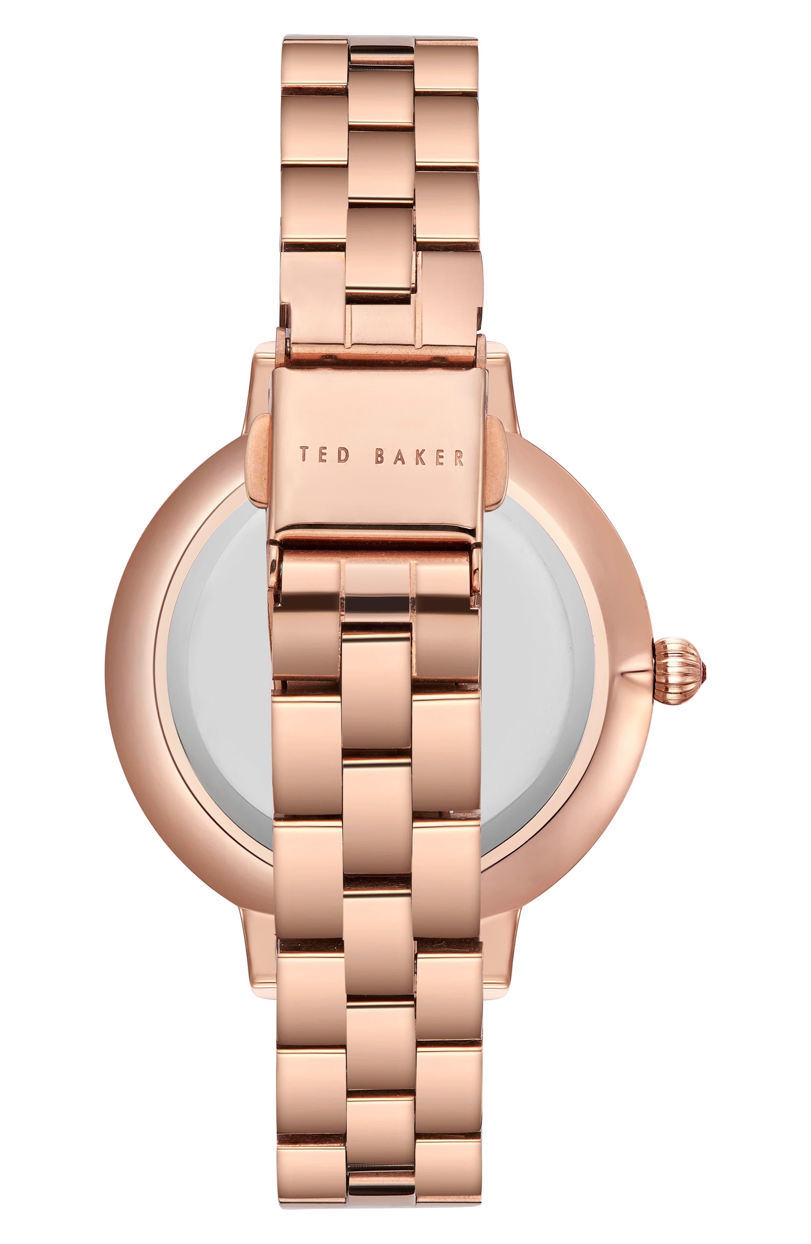 Kate Bracelet Watch, 36mm,                             Alternate thumbnail 2, color,                             Rose Gold/ Printed/ Rose Gold