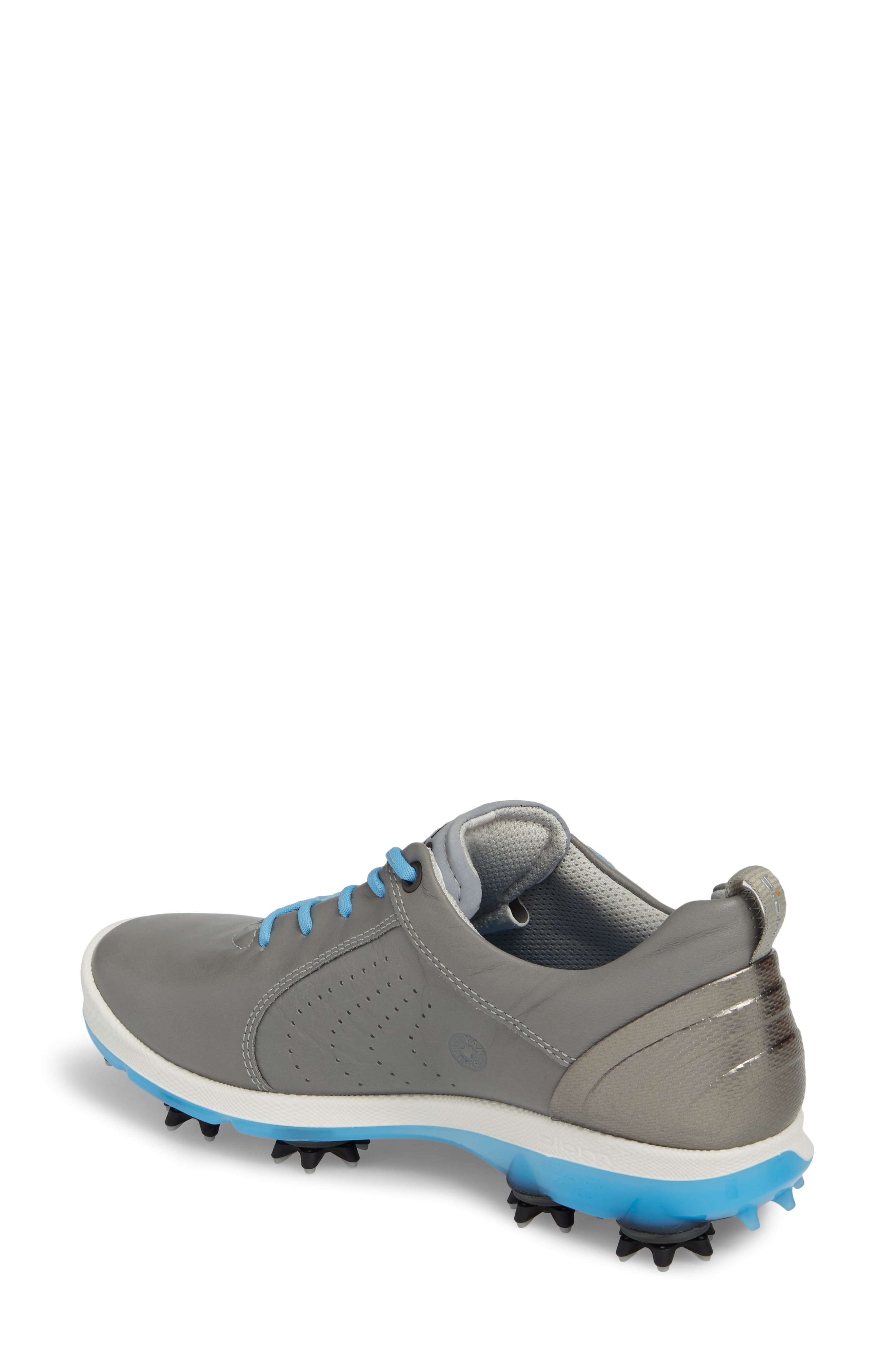 BIOM 2 Waterproof Golf Shoe,                             Alternate thumbnail 2, color,                             Wild Dove/ Sky Blue Leather