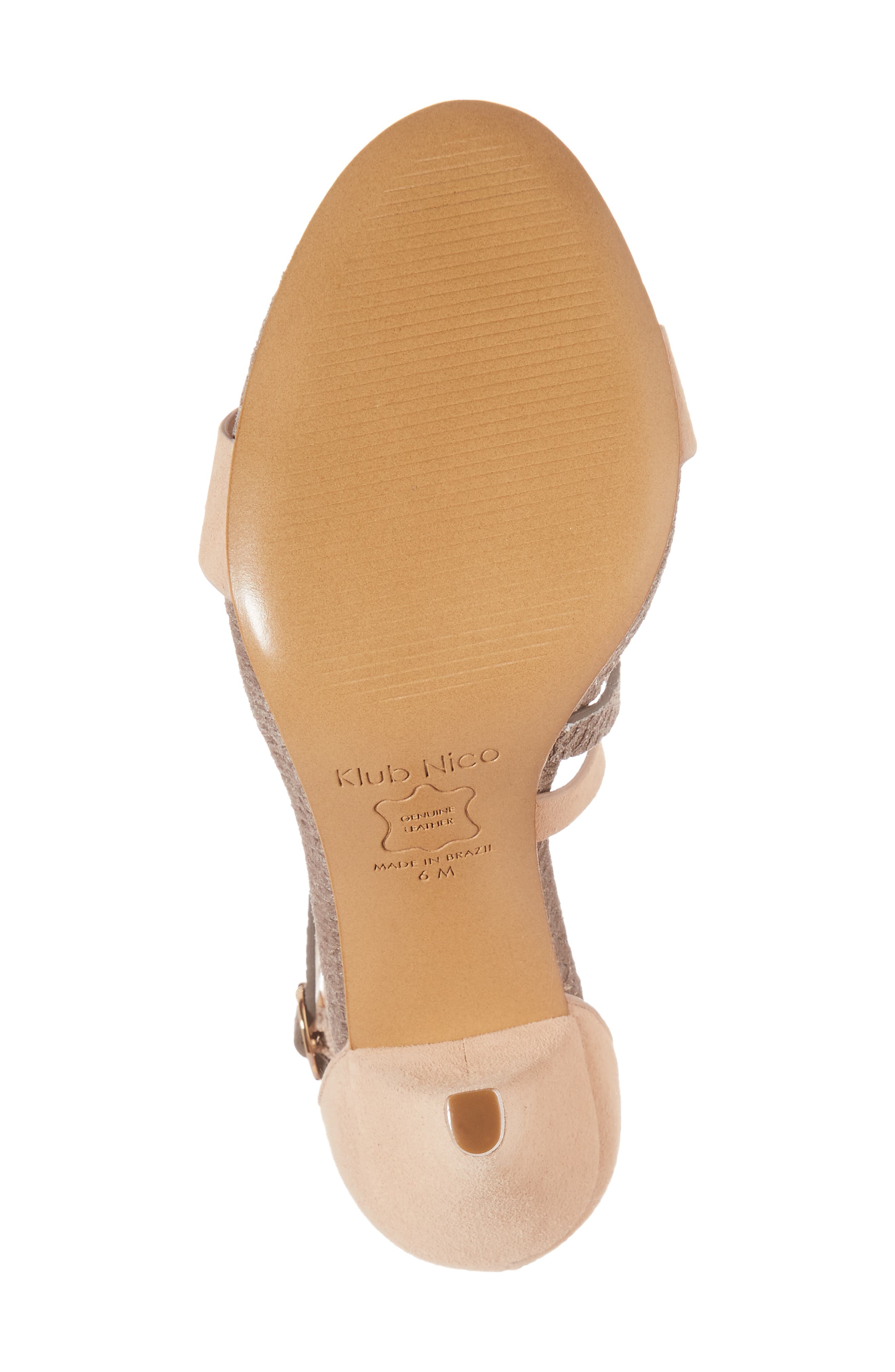 Arden Sandal,                             Alternate thumbnail 6, color,                             Peony/ Pewter Embossed Leather