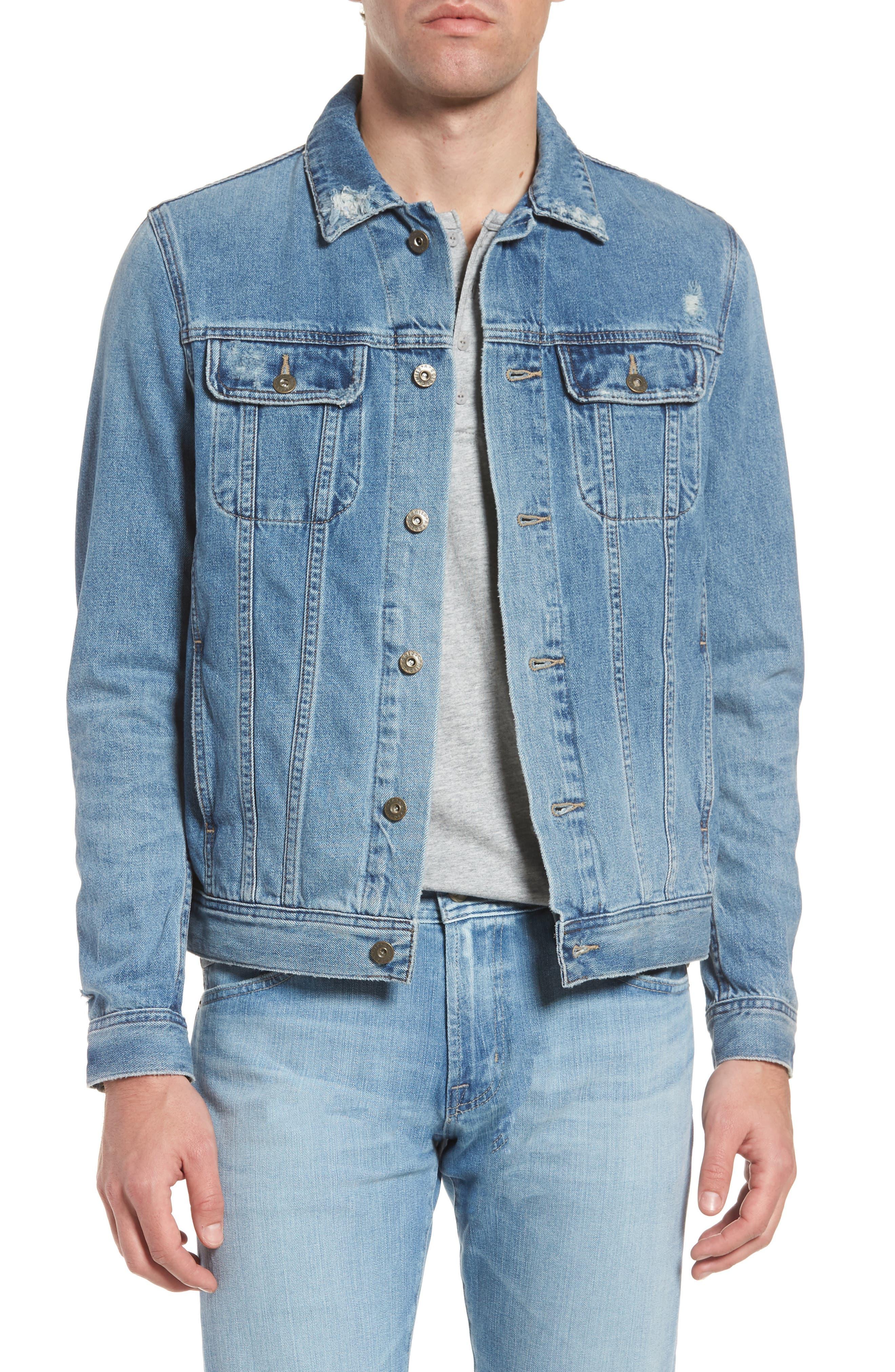 Dart Denim Jacket,                         Main,                         color, 19 Years Drift