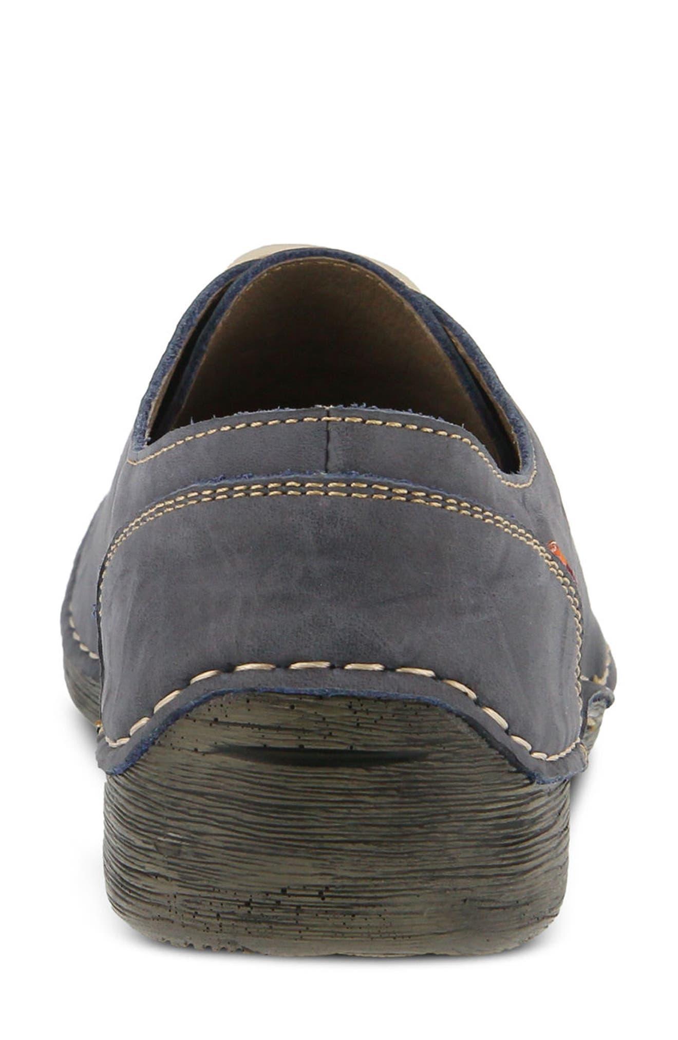 Carhop Sneaker,                             Alternate thumbnail 4, color,                             Blue Leather