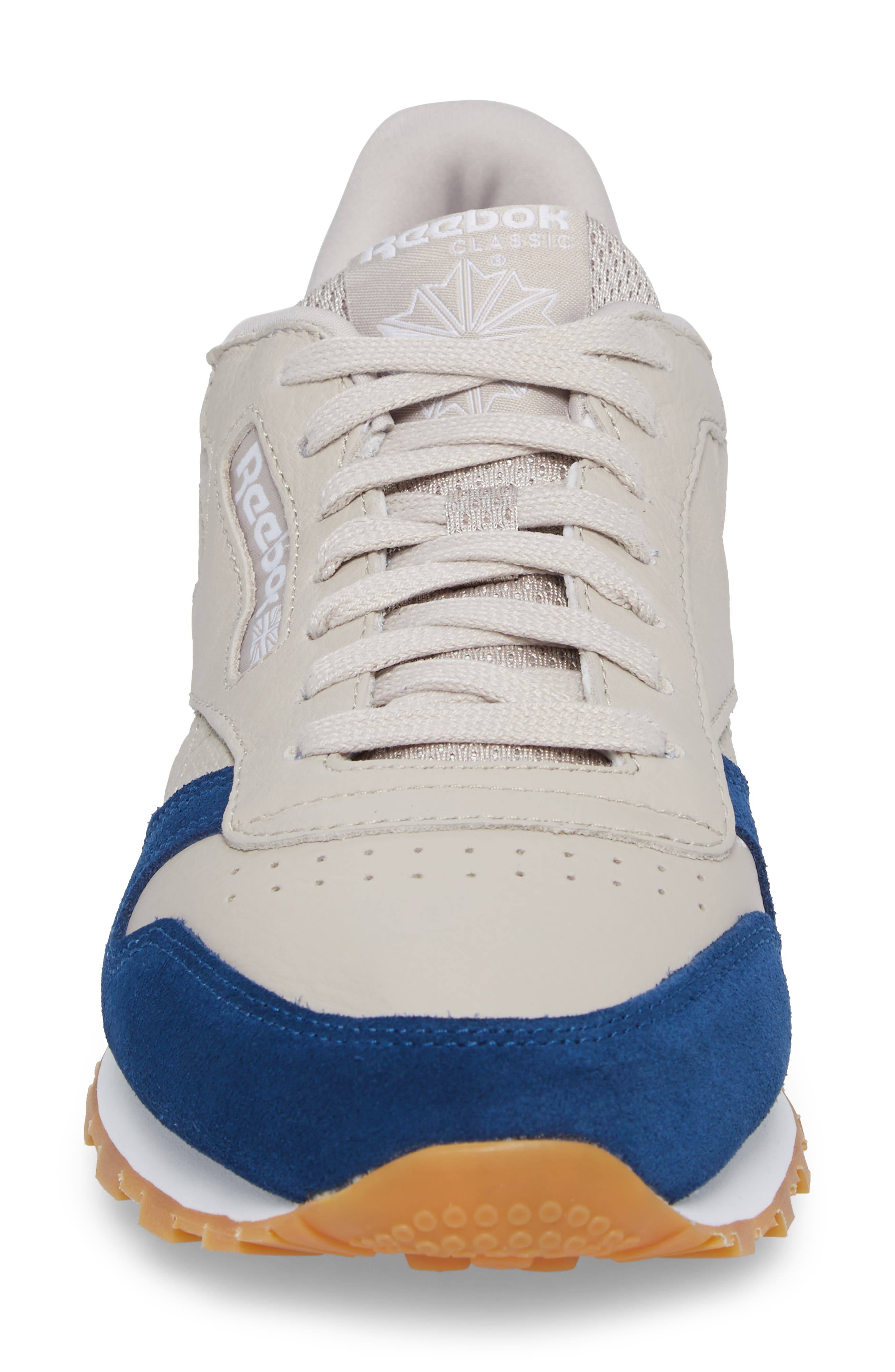 Classic Leather GI Sneaker,                             Alternate thumbnail 4, color,                             Sand Stone/ Washed Blue/ White