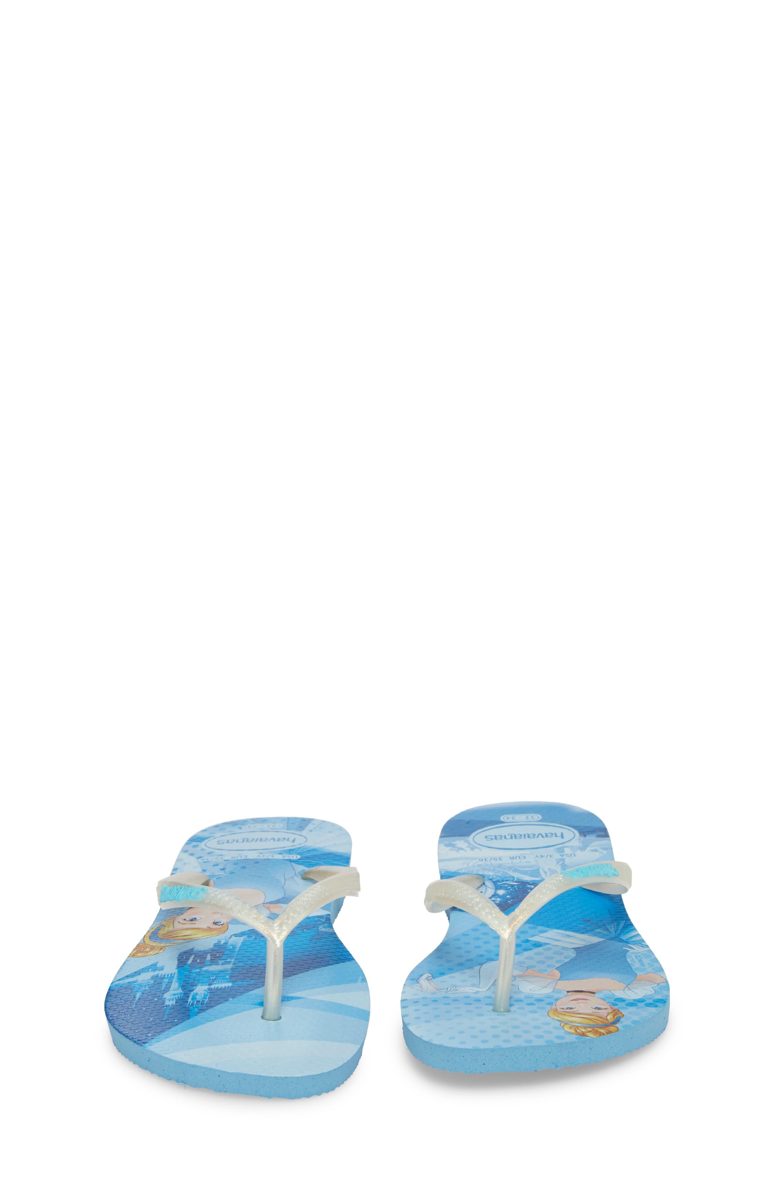 'Disney Princess' Flip Flops,                             Alternate thumbnail 5, color,                             Blue Splash