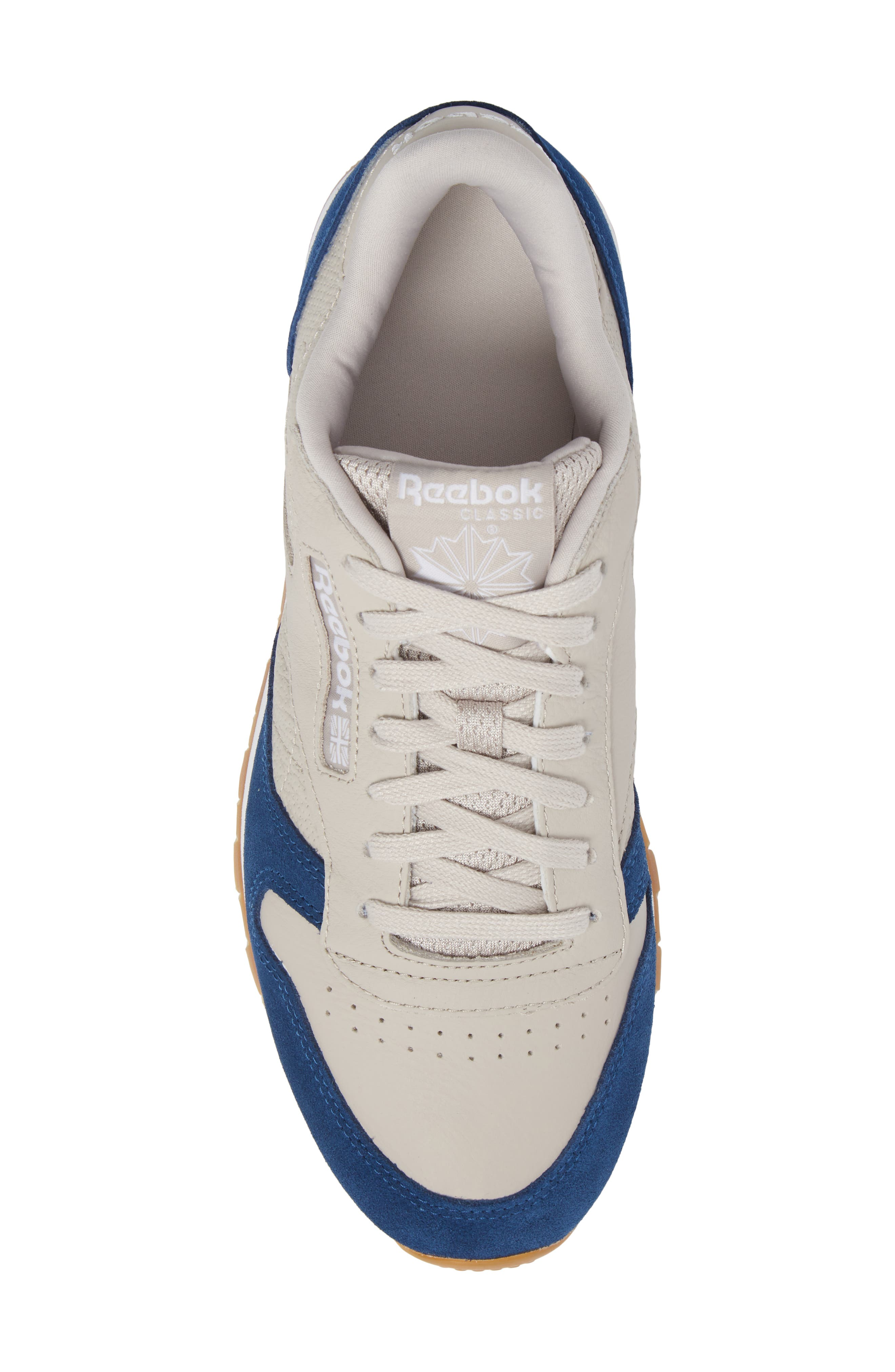 Classic Leather GI Sneaker,                             Alternate thumbnail 5, color,                             Sand Stone/ Washed Blue/ White