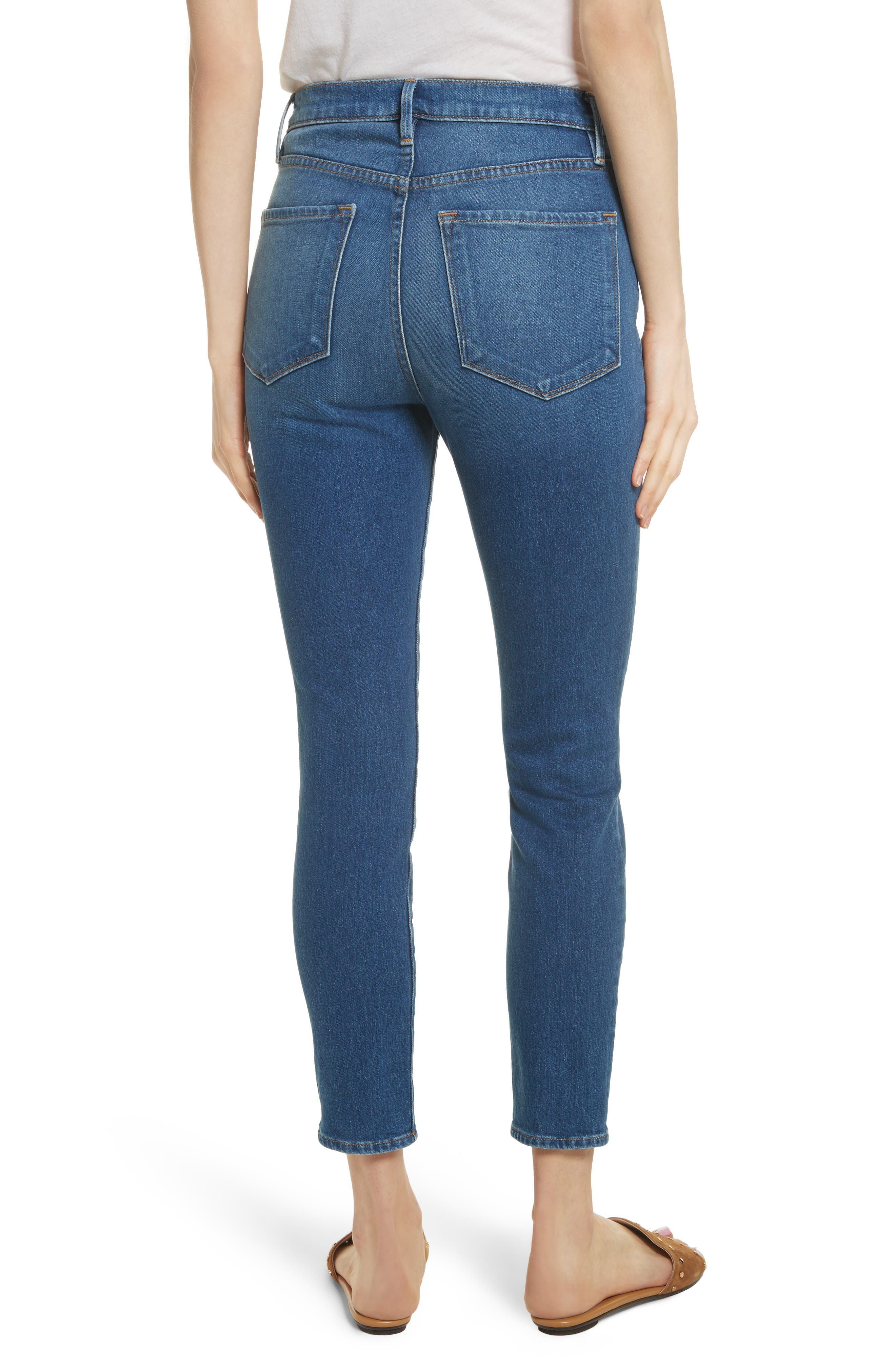Ali High Waist Skinny Cigarette Jeans,                             Alternate thumbnail 3, color,                             Olympus