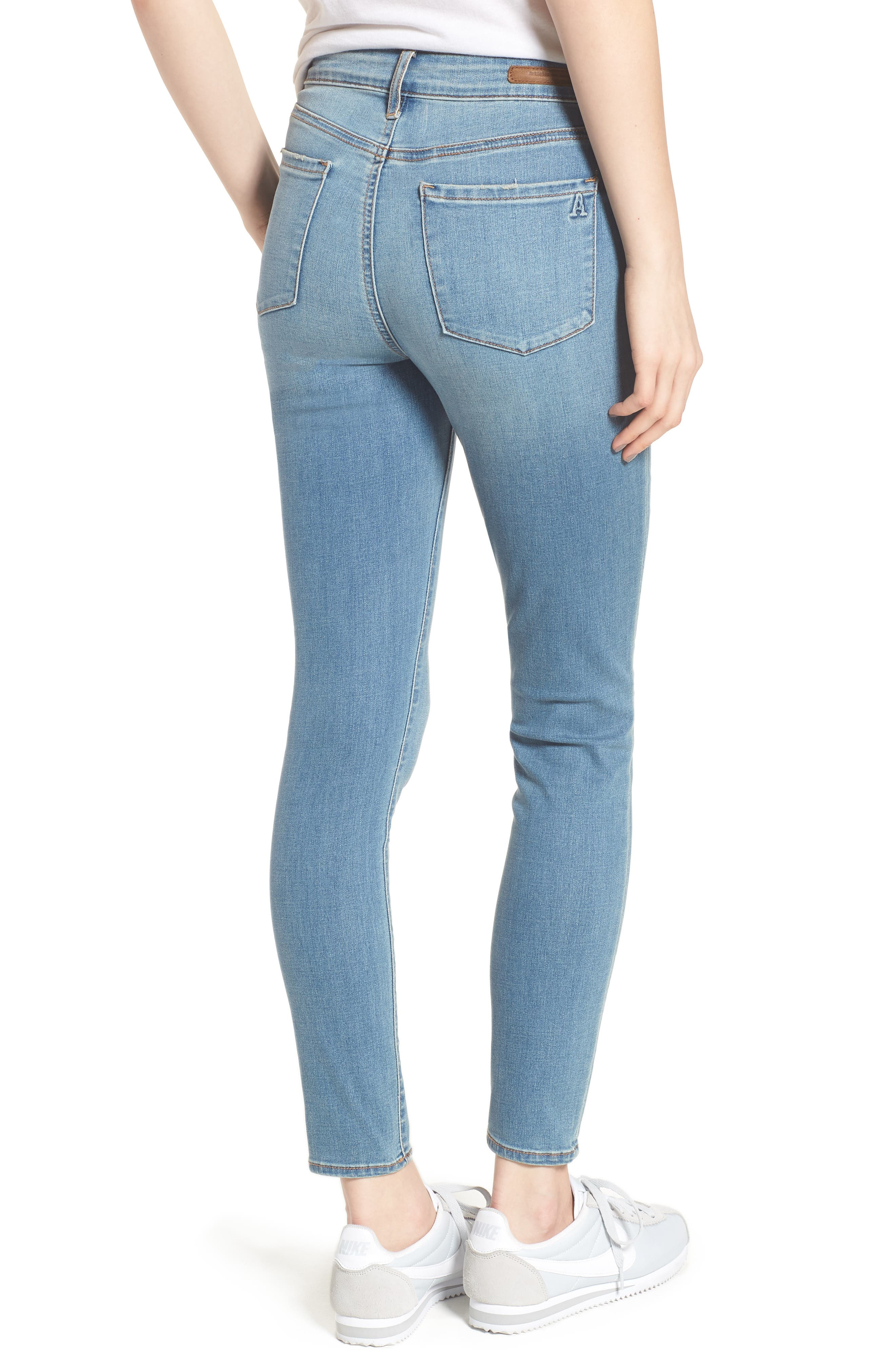 Heather High Waist Skinny Jeans,                             Alternate thumbnail 2, color,                             Monaco