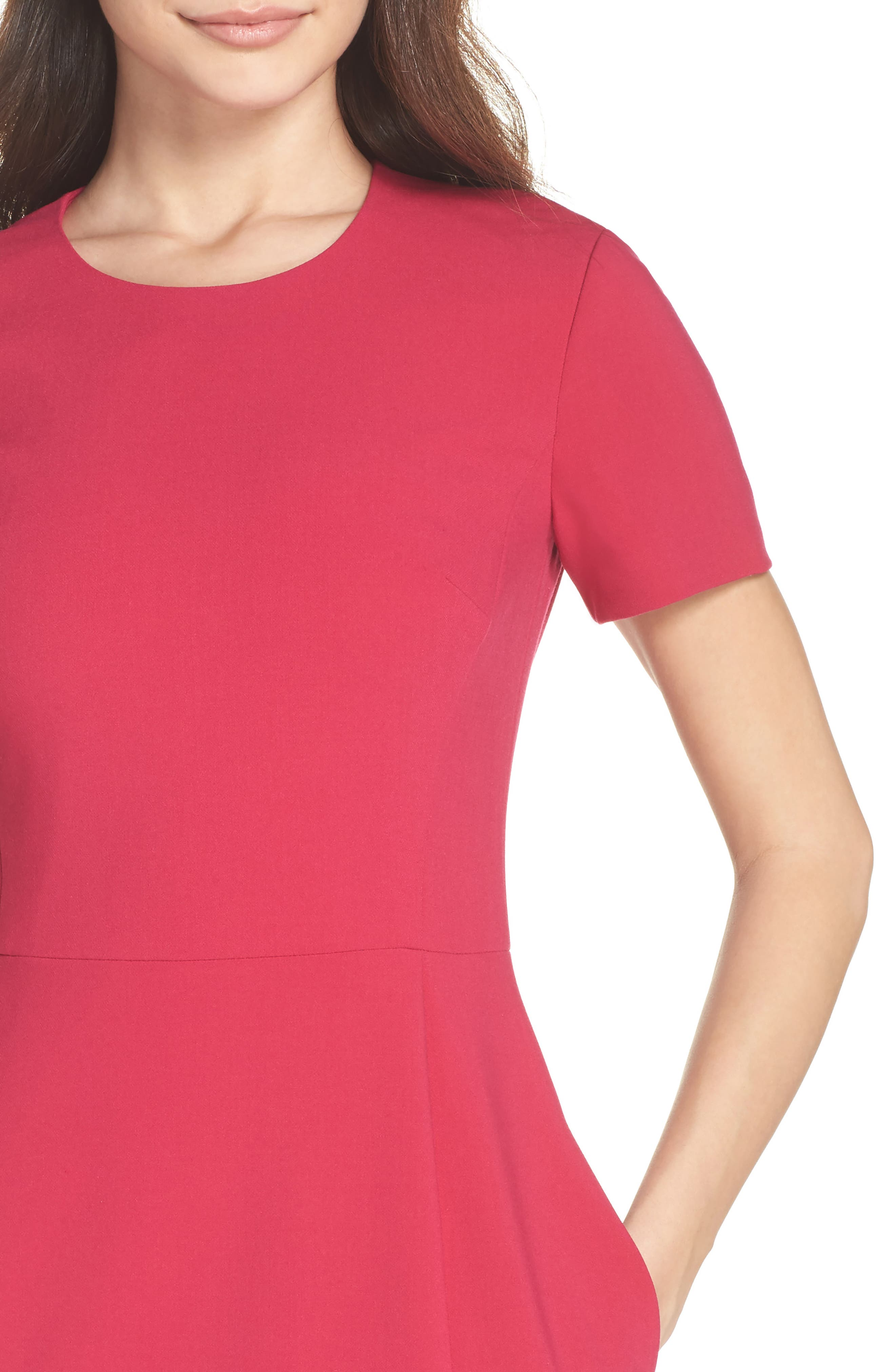 Whisper Light Sheath Dress,                             Alternate thumbnail 4, color,                             Magenta