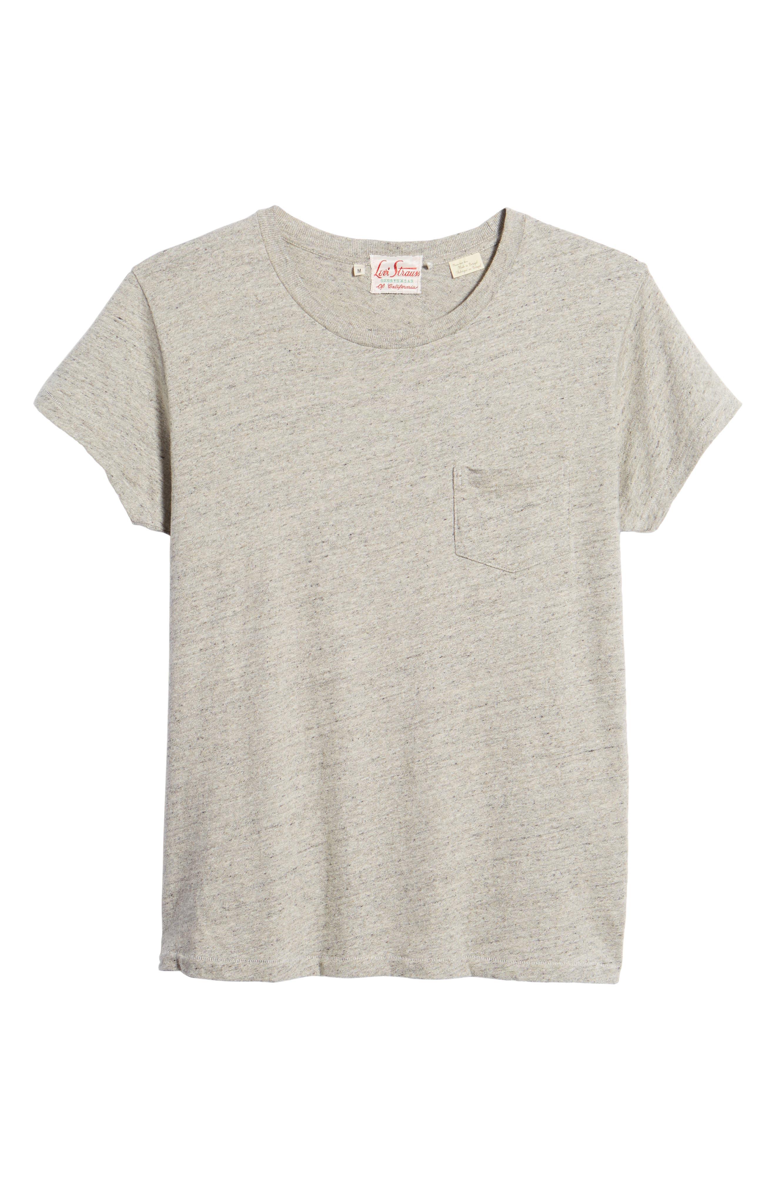 Levi's Vintage Clothing 1950s Sportswear Pocket T-Shirt,                             Alternate thumbnail 6, color,                             Grey