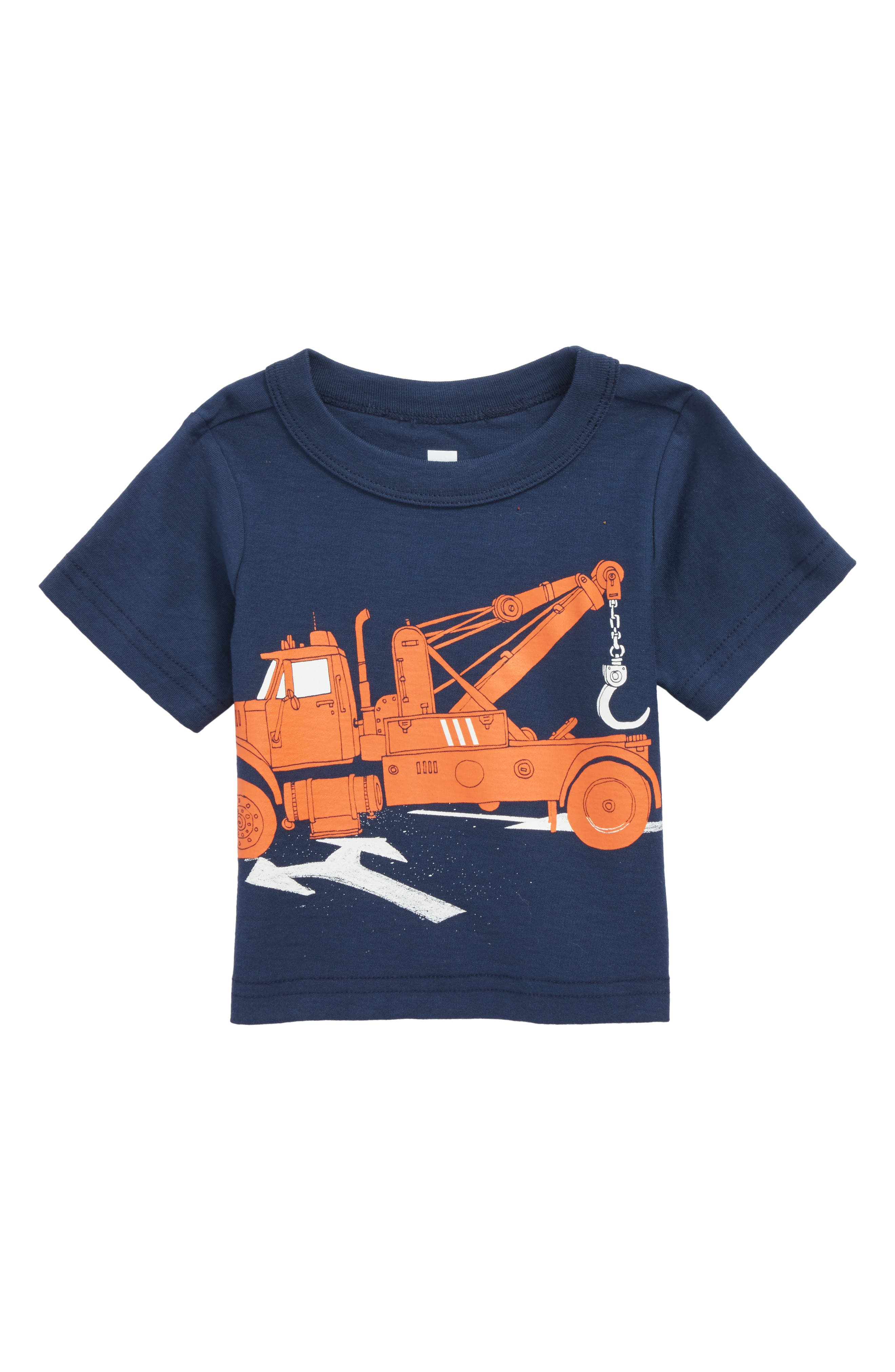 Tow Truck Graphic T-Shirt,                             Main thumbnail 1, color,                             Whale Blue