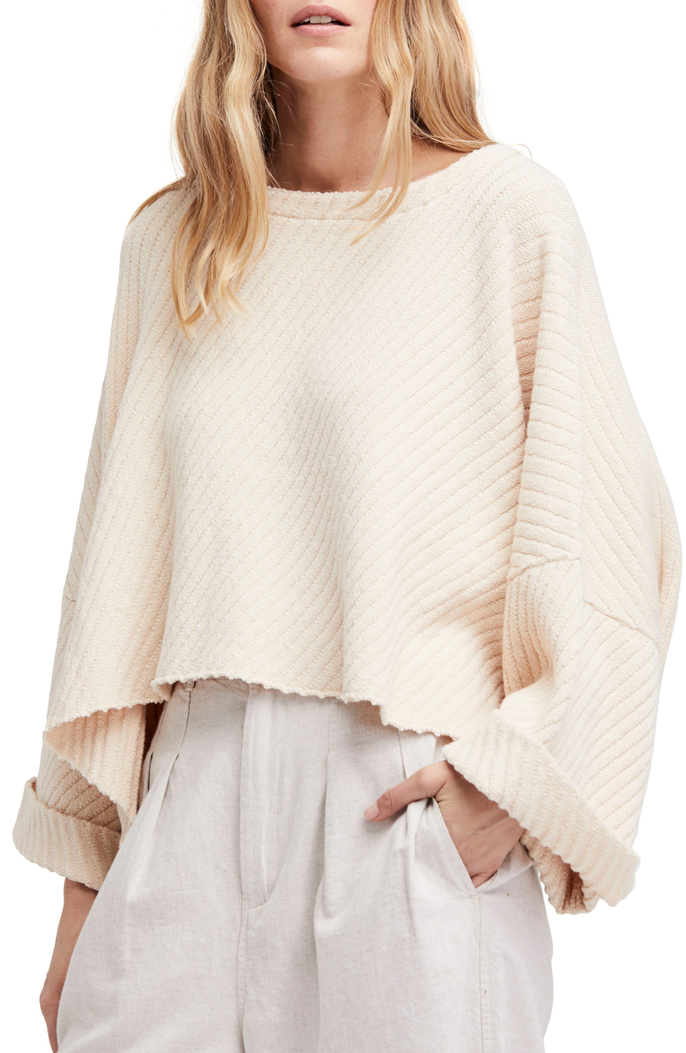 Free People I Can't Wait Crop Sweater