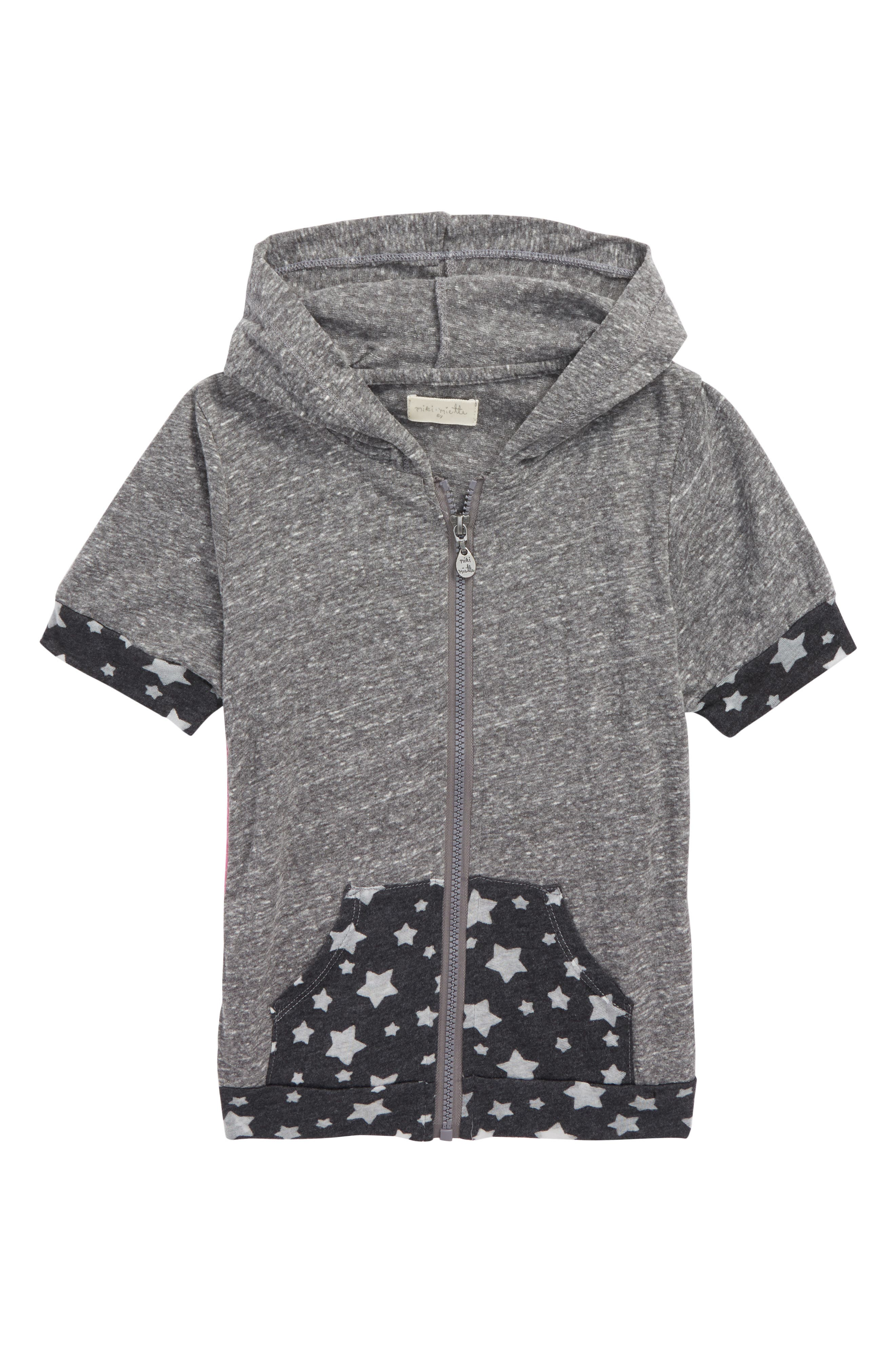 Miki Miette Lolo Short Sleeve Hoodie (Toddler Girls & Little Girls)